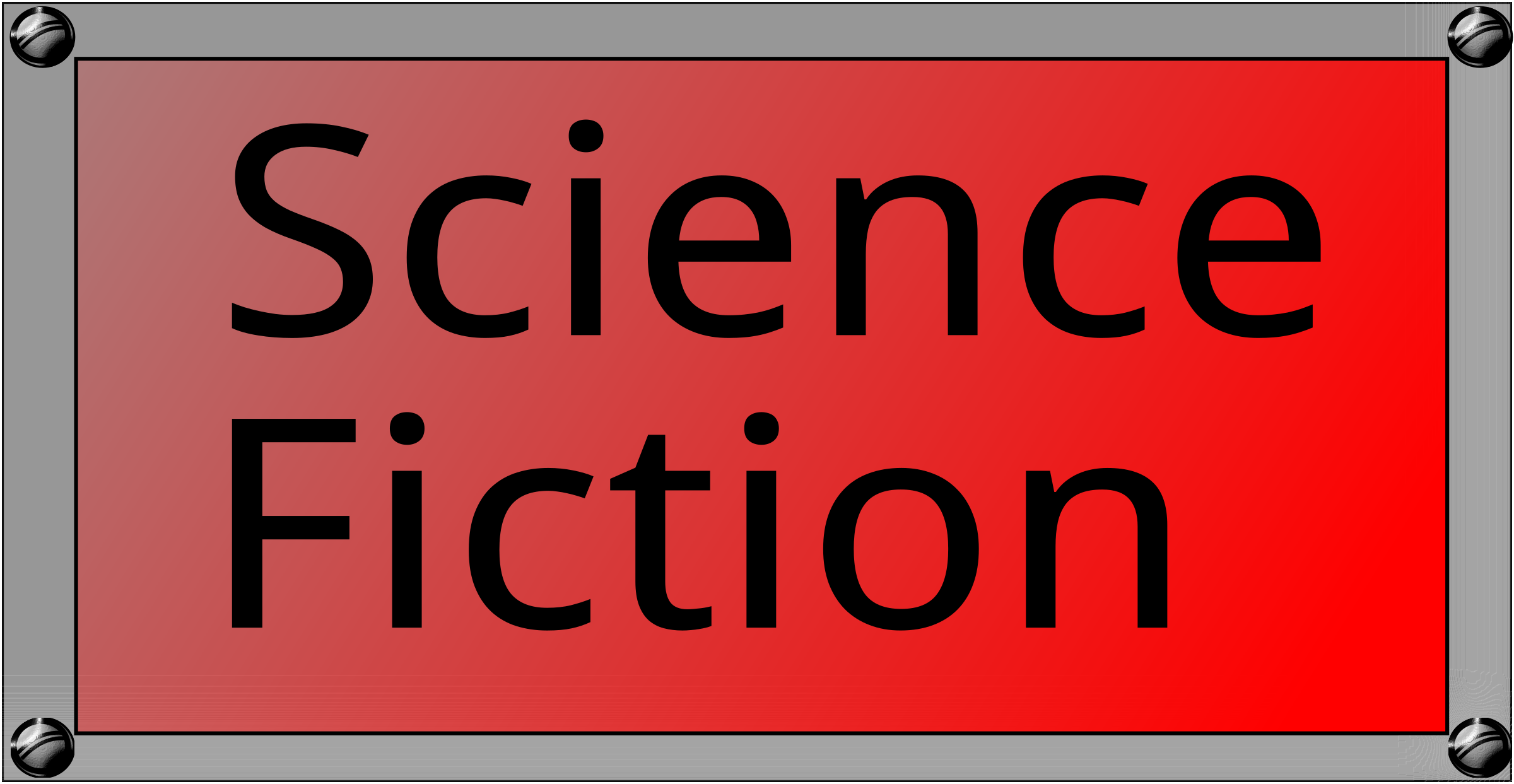 Science Fiction Button by algotruneman