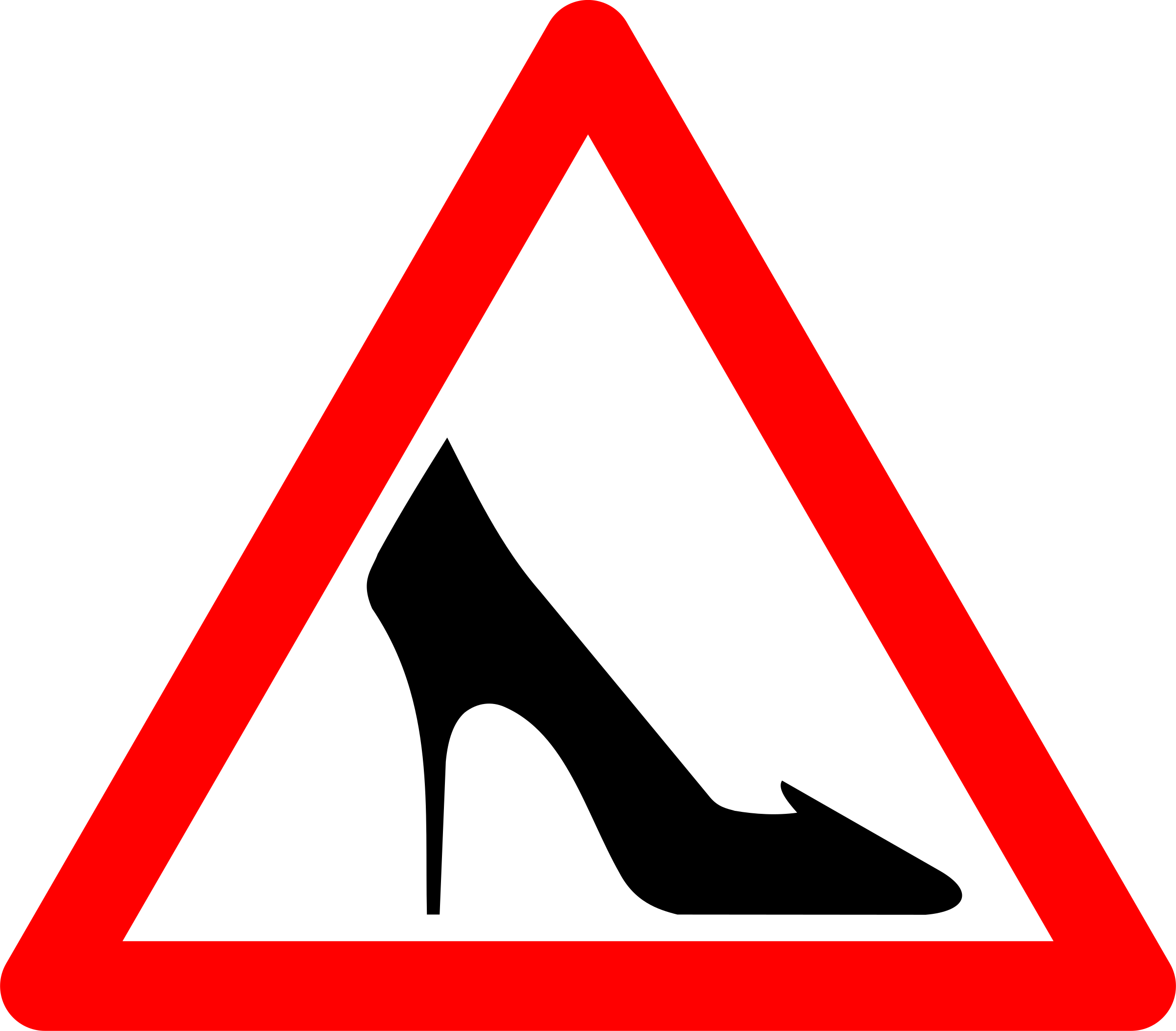 Shoe Traffic Sign by grin
