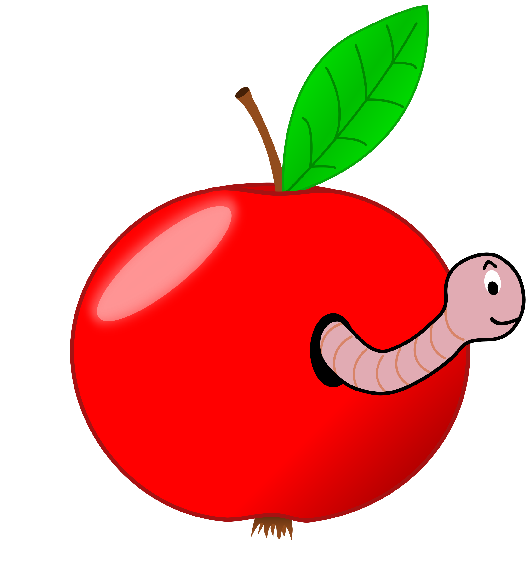 Red Apple with a Worm by vanyasmart