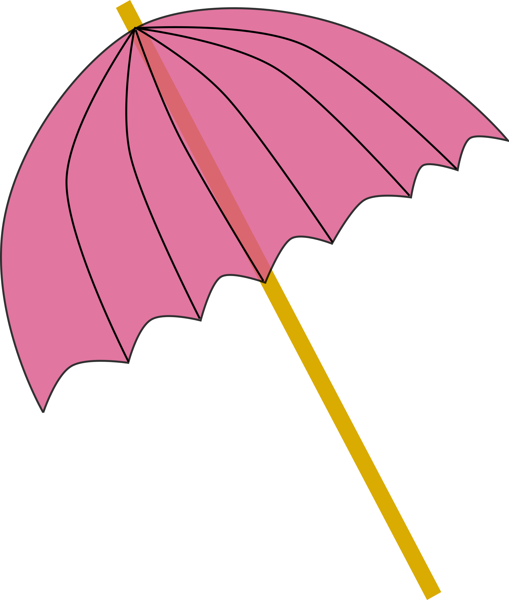 clipart umbrella parasol pink tranparent. Black Bedroom Furniture Sets. Home Design Ideas