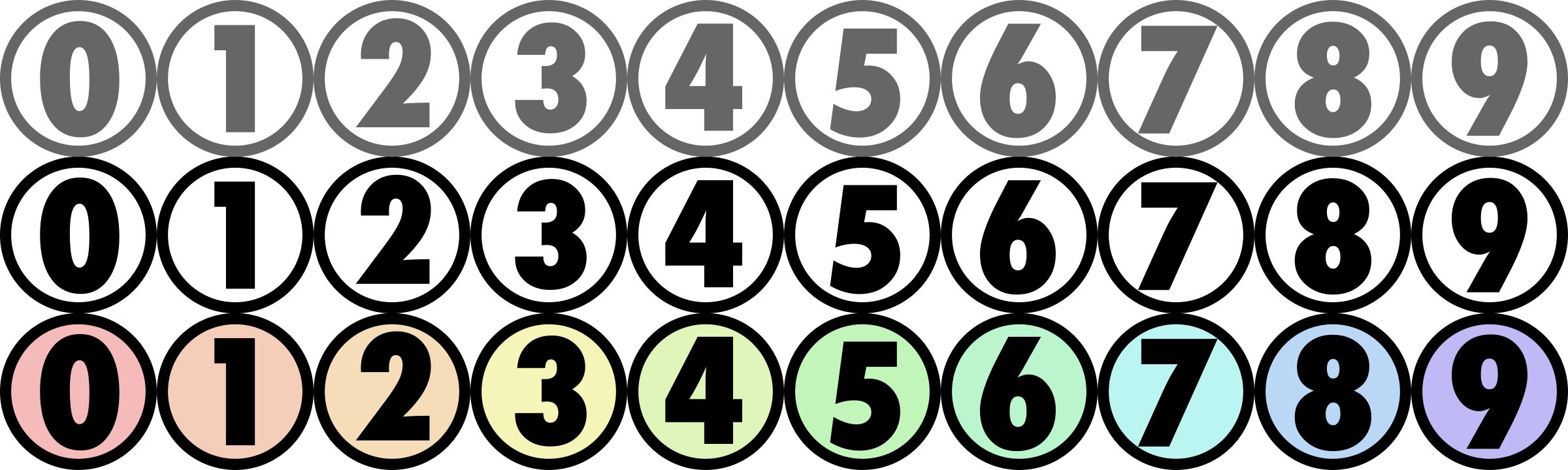 Number icons for CSS slicing by darth_schmoo