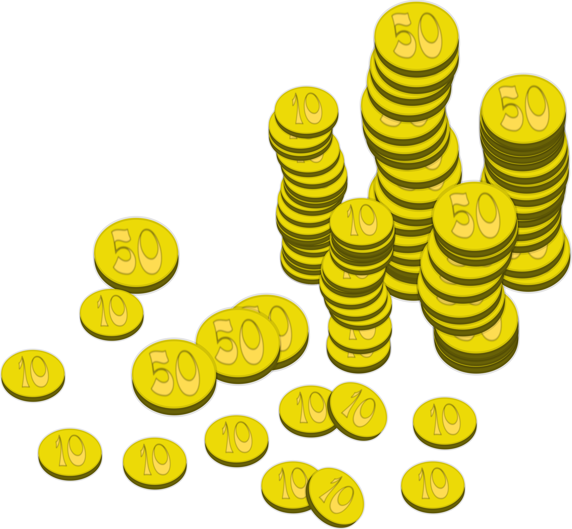 Clipart Coins Money