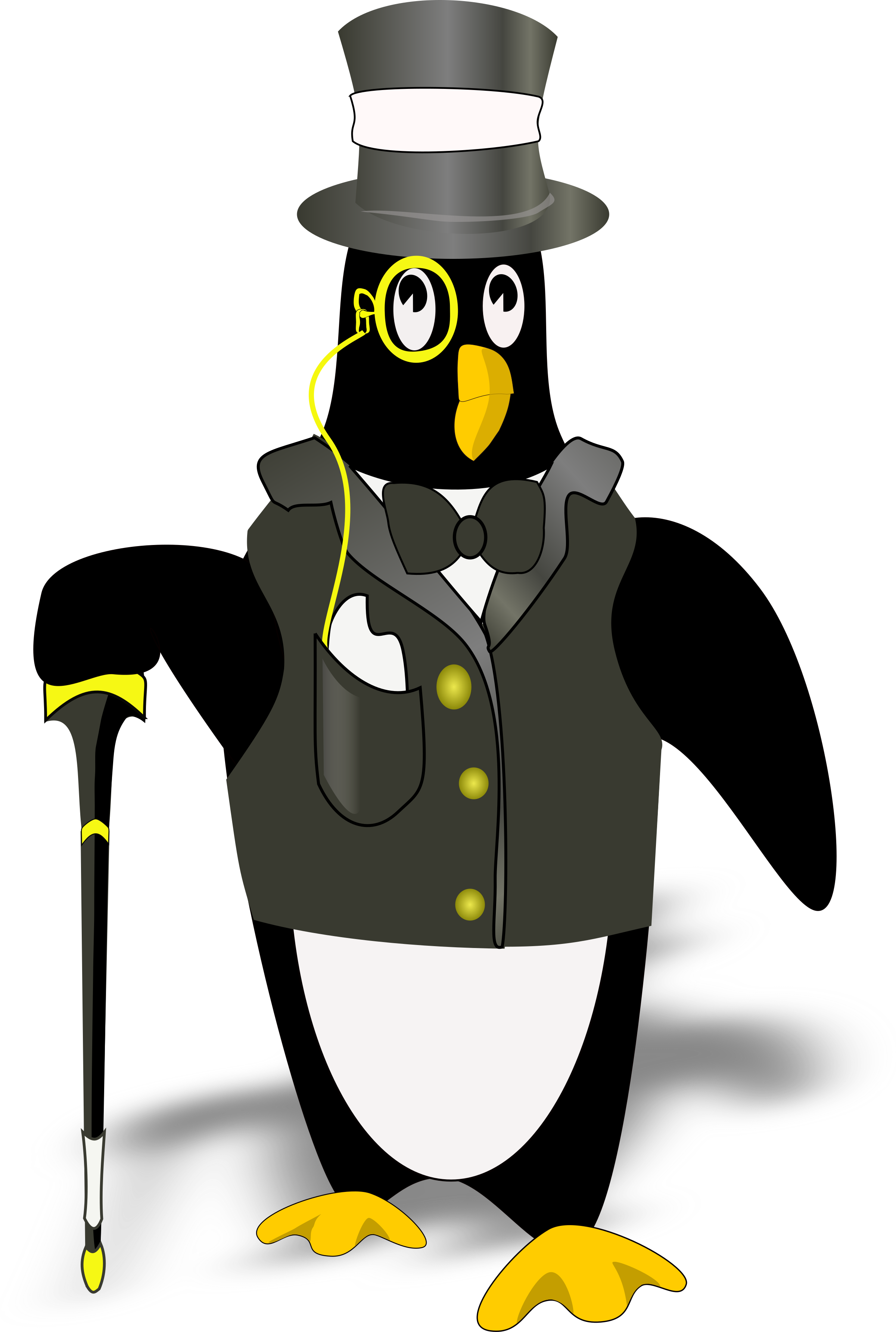 penguin in tux(bordered correctly) by Dgimse