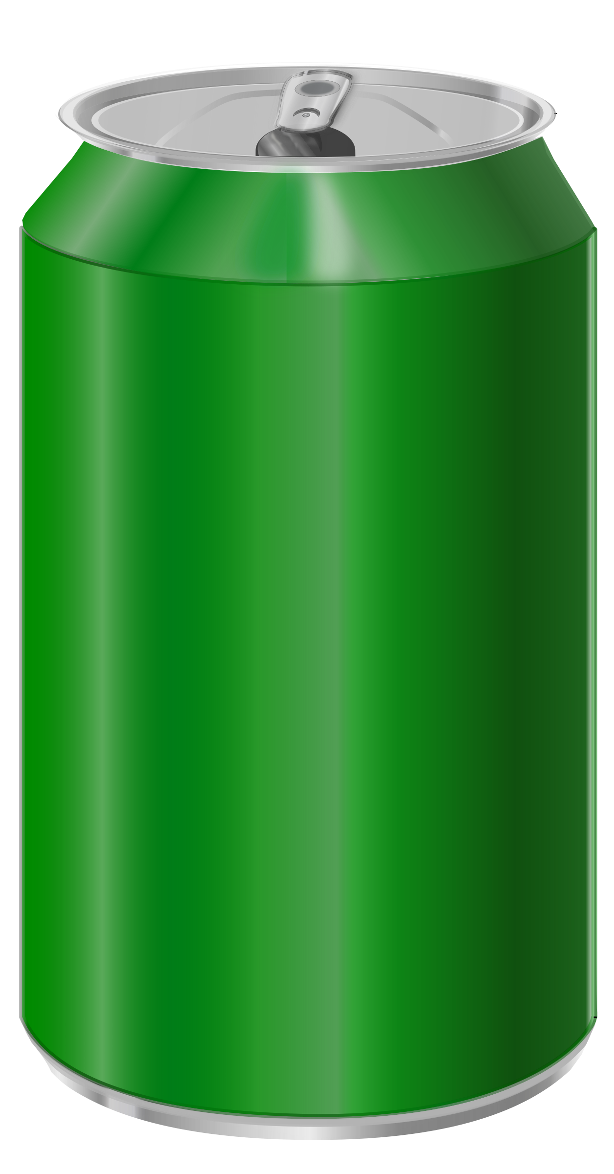 Green soda can by vectorscape