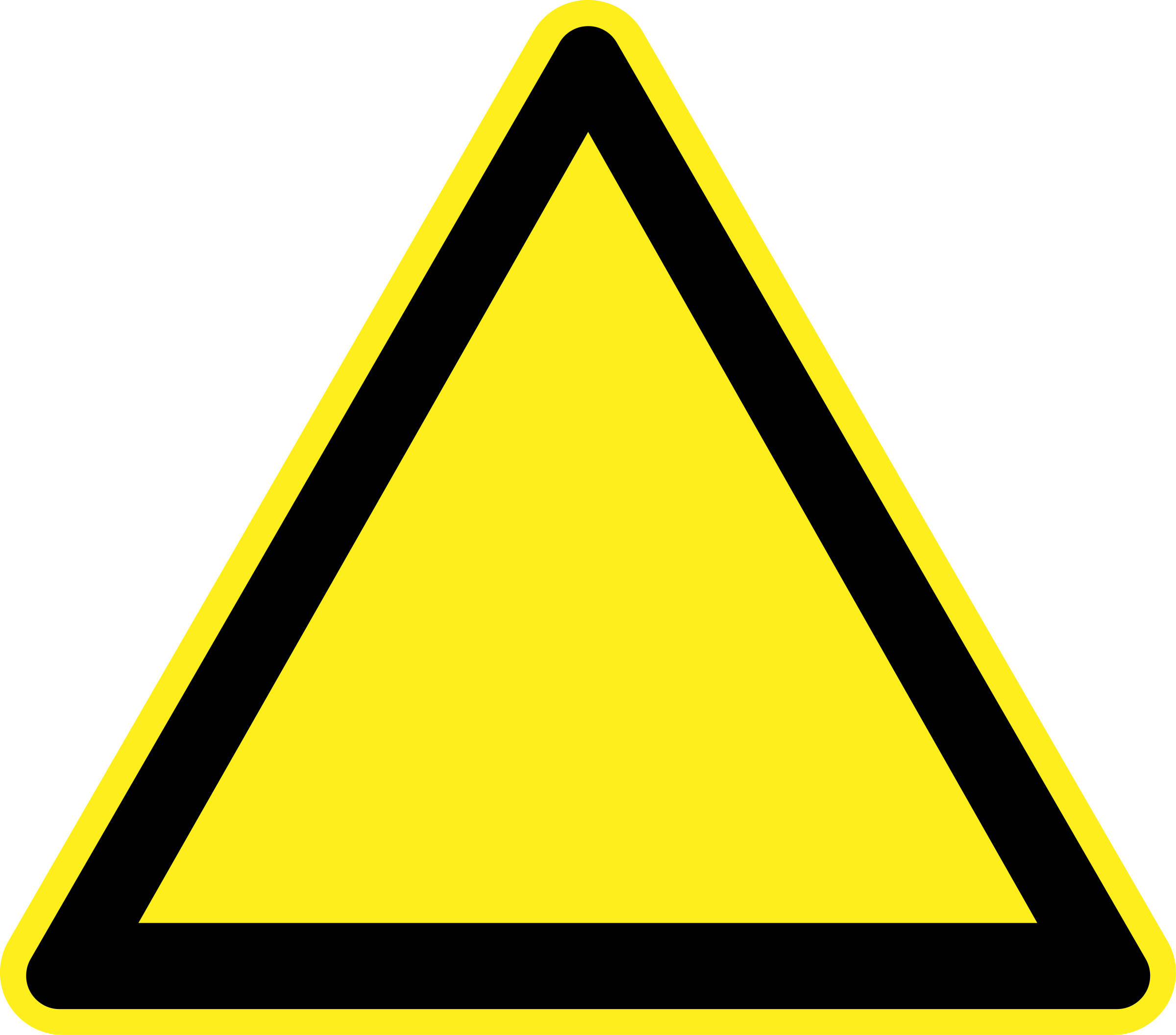 Blank Warning Sign by h0us3s