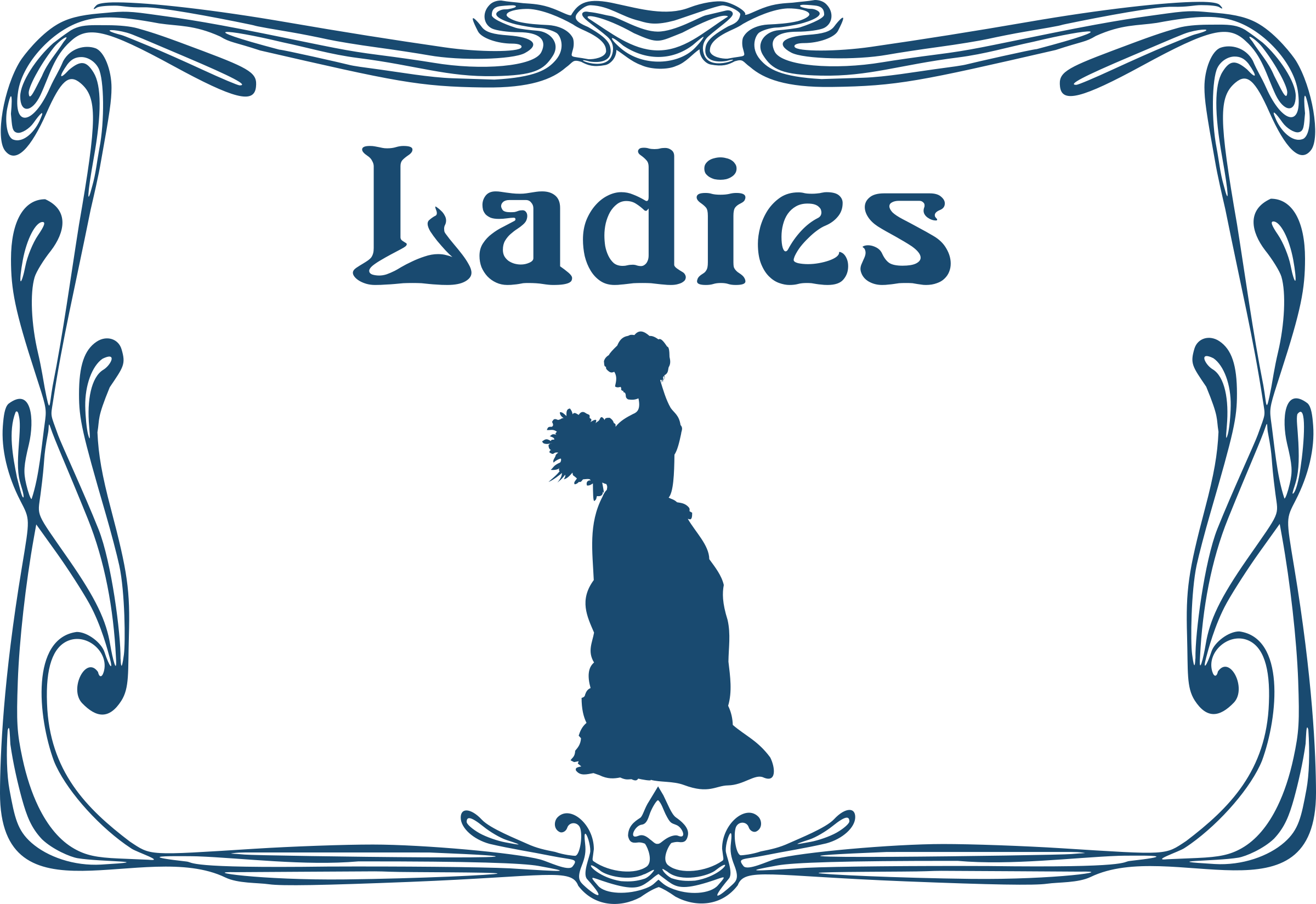 Ladies' toilet door sign by Moini