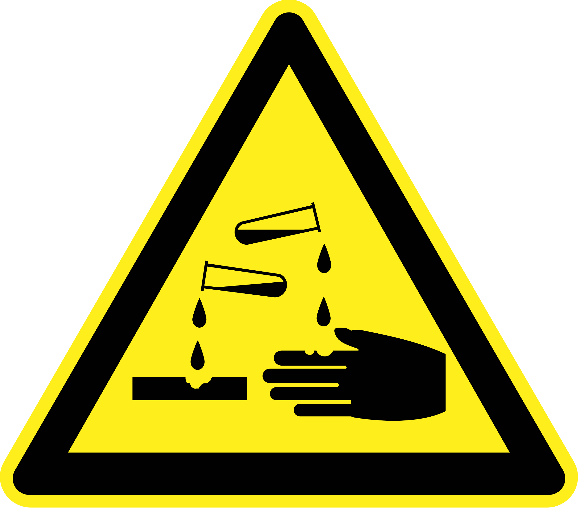 Corrosive Material Warning Sign by h0us3s