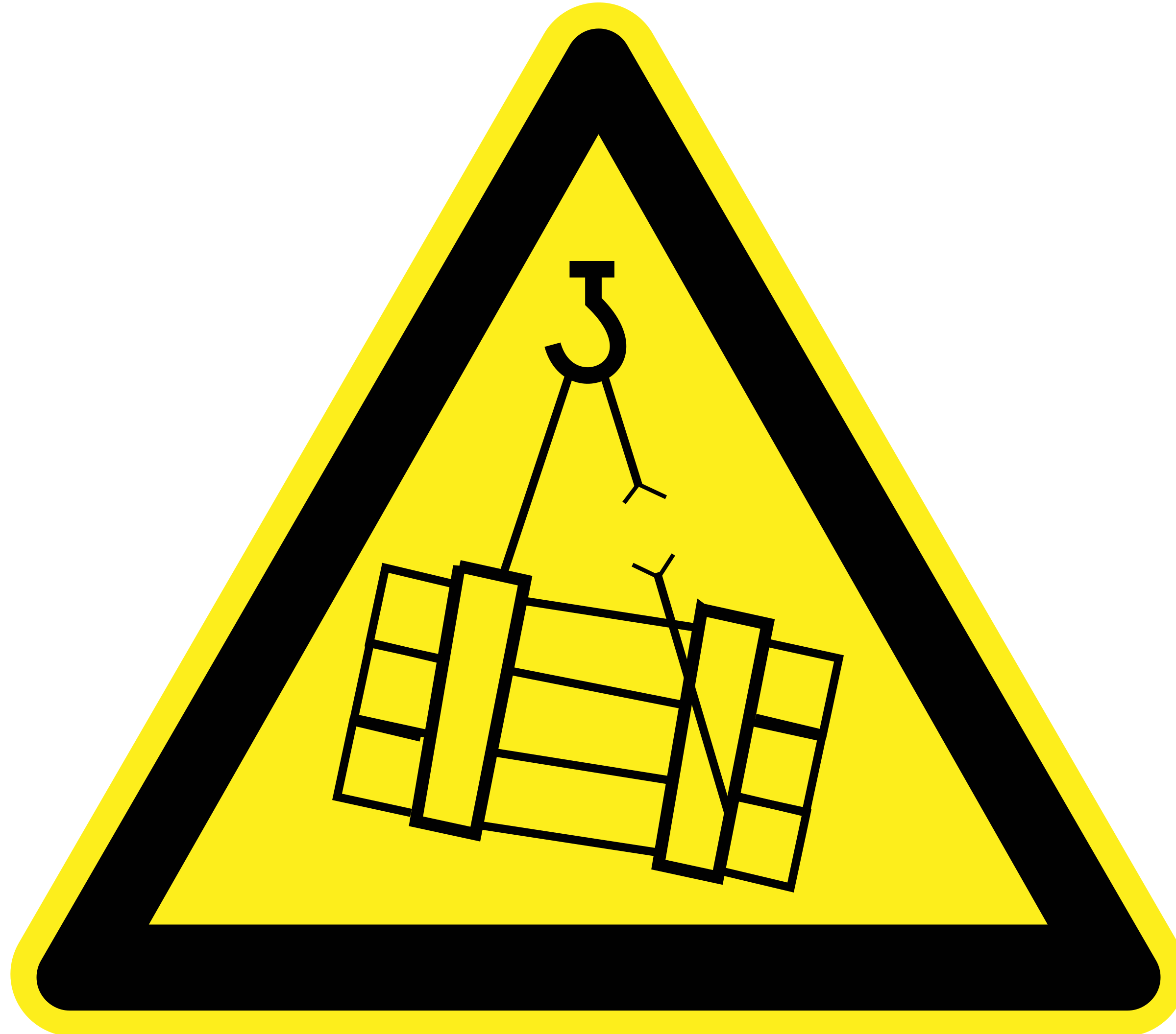 Signs Hazard Warning - falling cargo by h0us3s