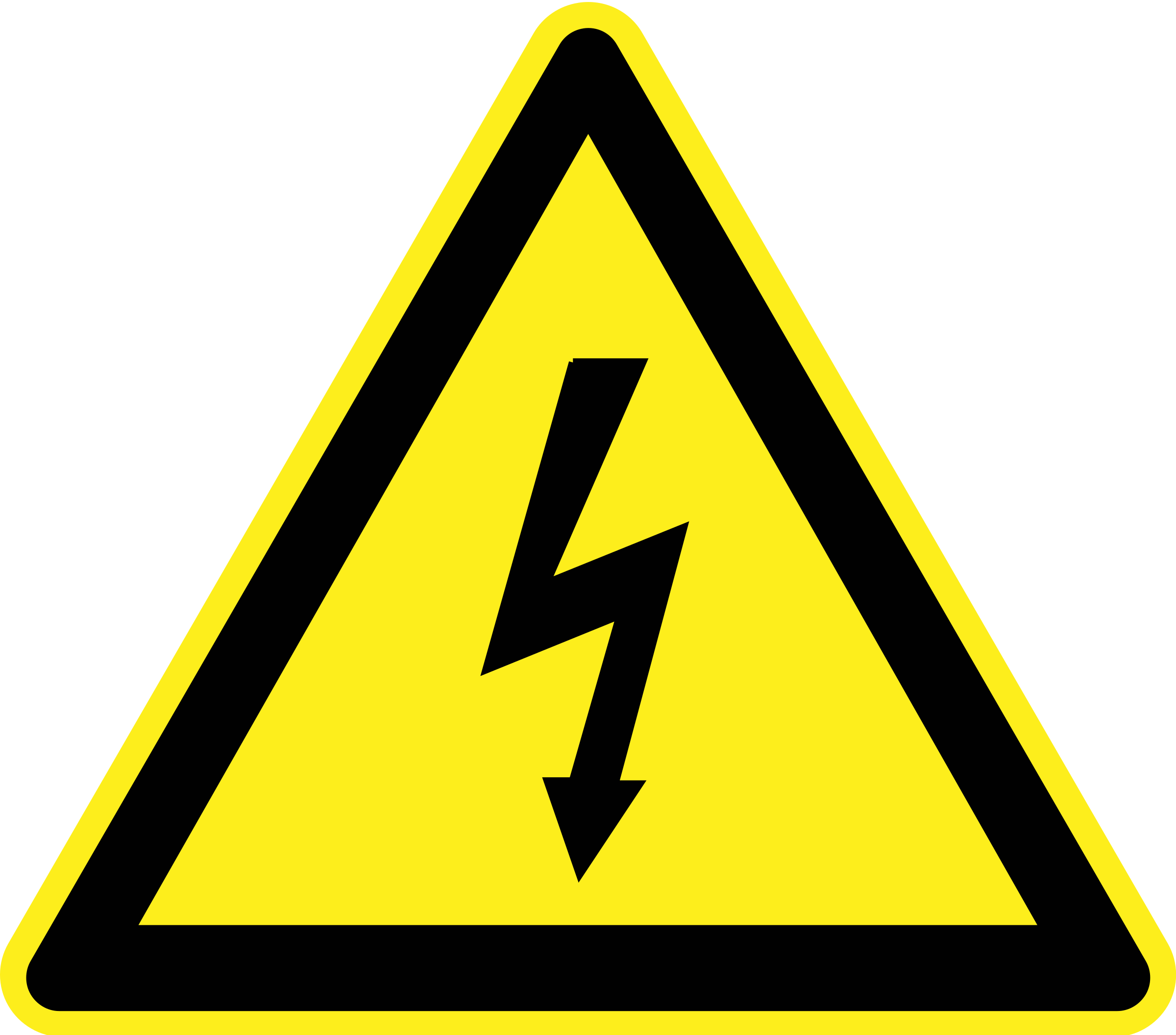 Signs Hazard Warning - Electricity by h0us3s