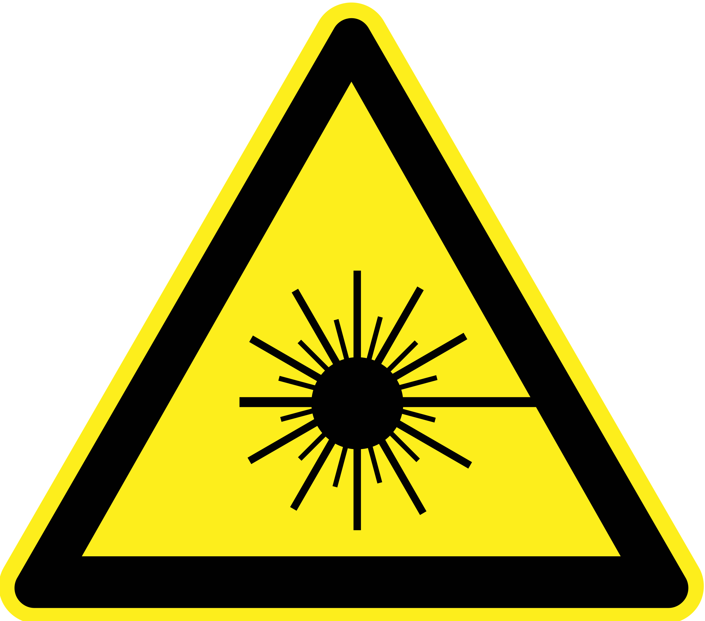 Laser Beam Warning Sign by h0us3s