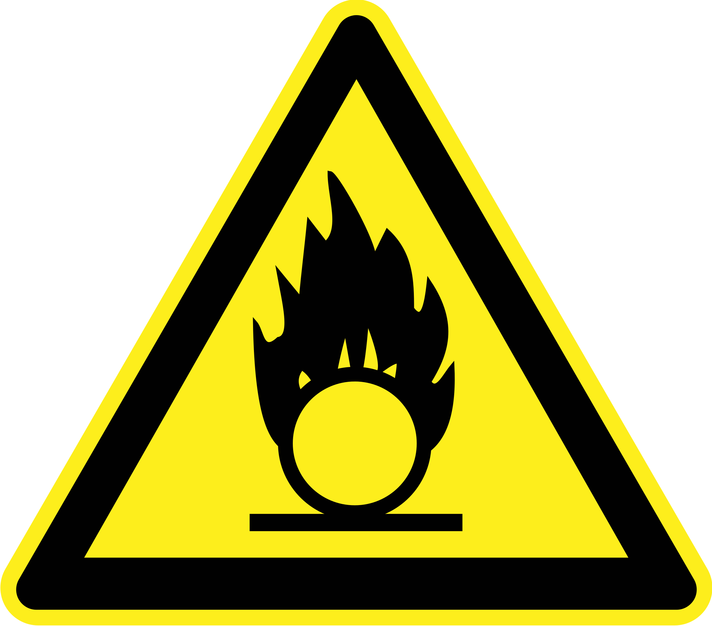 Fire Hazard Warning Sign by h0us3s
