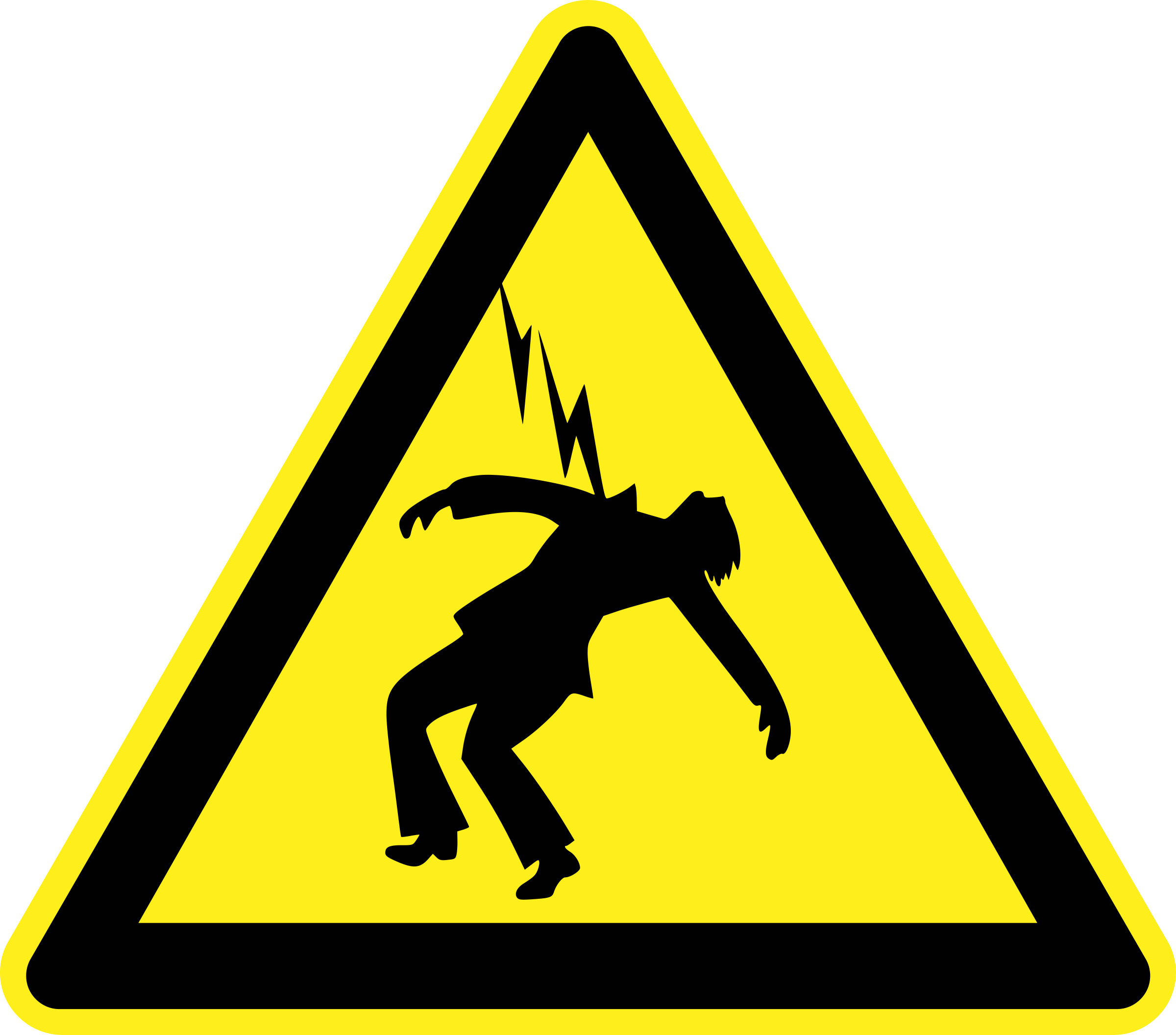 Danger High Voltage Warning Sign by h0us3s
