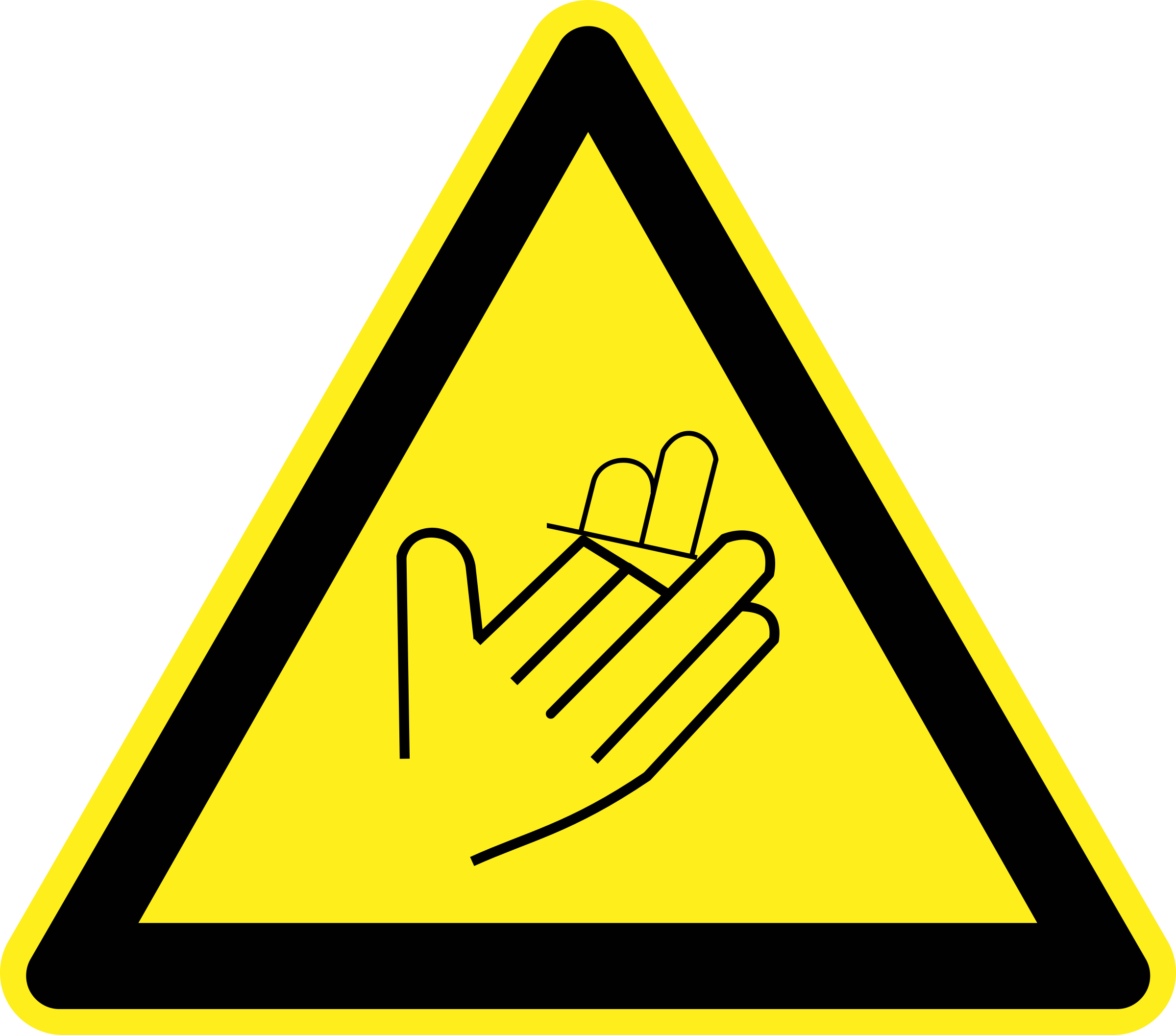 Hand/Finger Loss Warning Sign by h0us3s