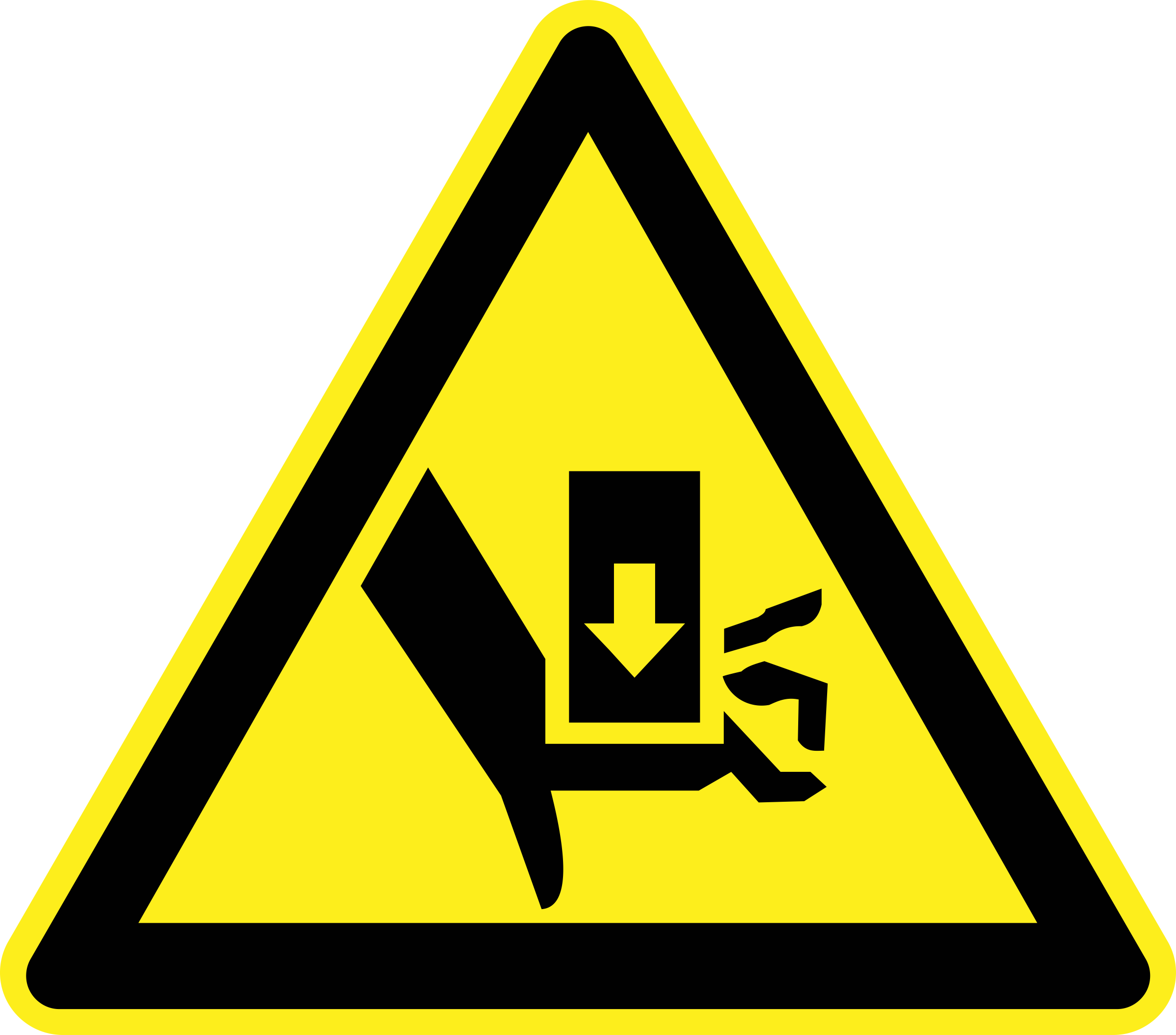 Crush Hazard Warning Sign by h0us3s