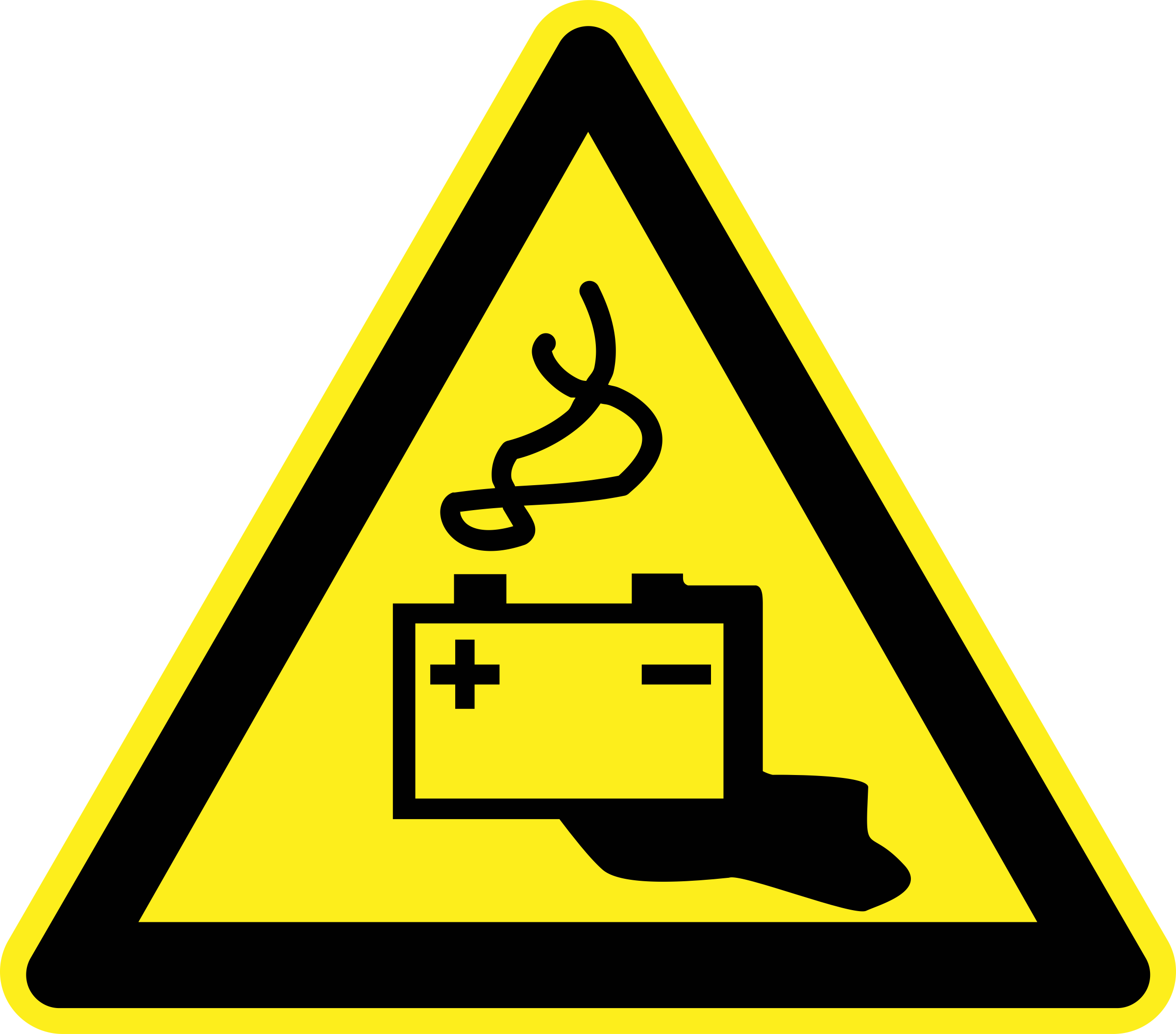 Battery Warning Sign by h0us3s