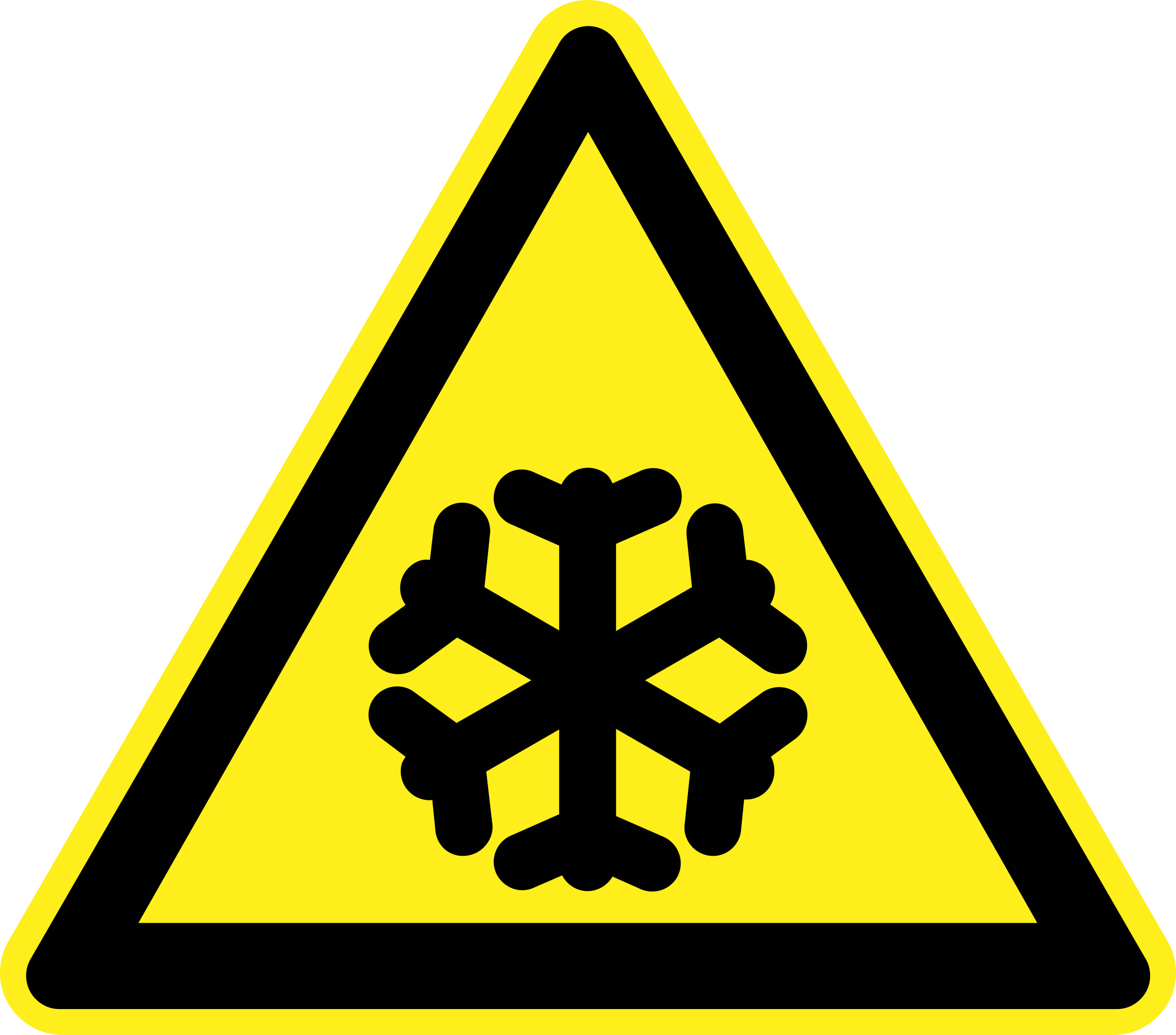 Cold Warning Sign by h0us3s