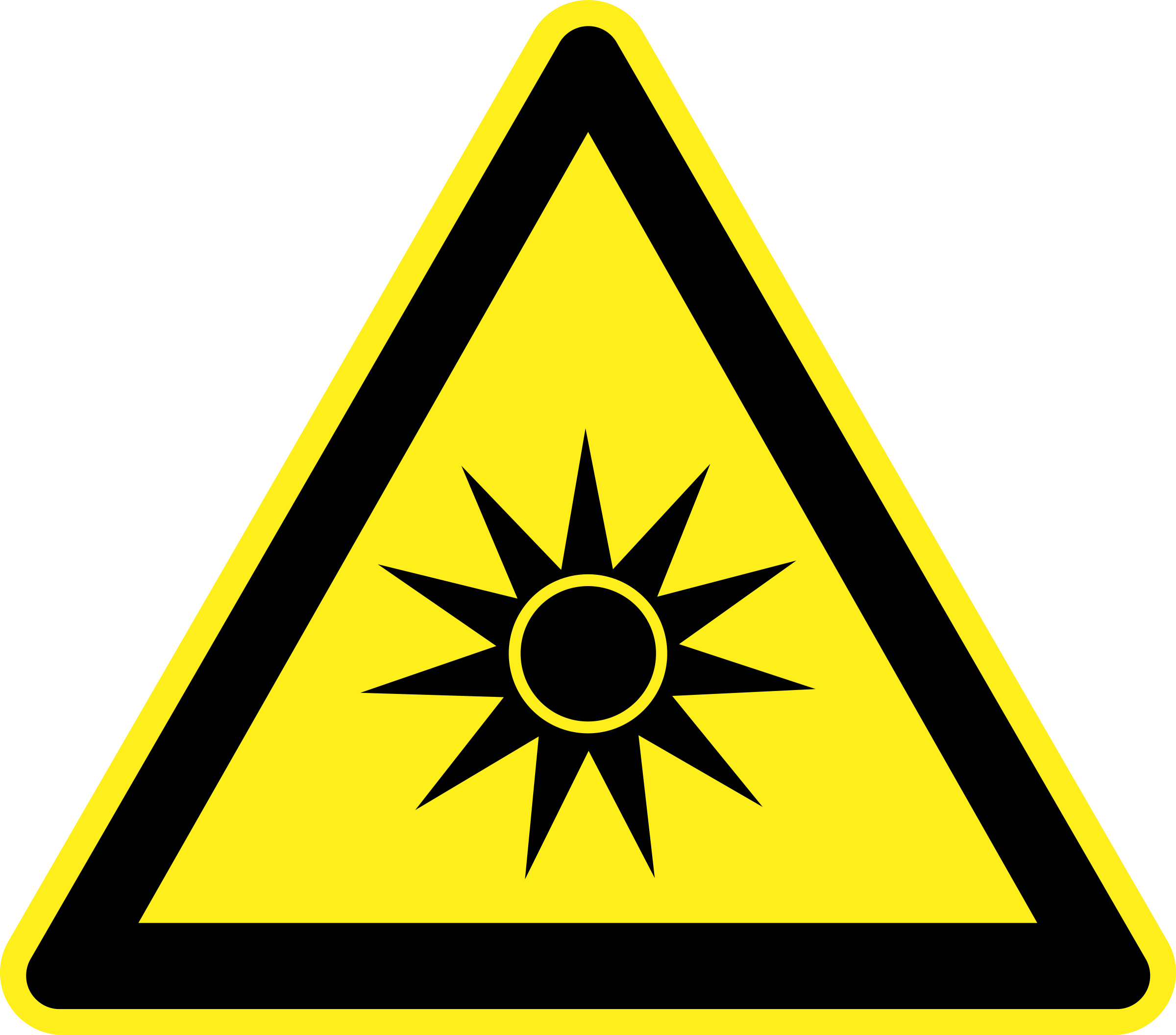 Optical Radiation Warning Sign by h0us3s