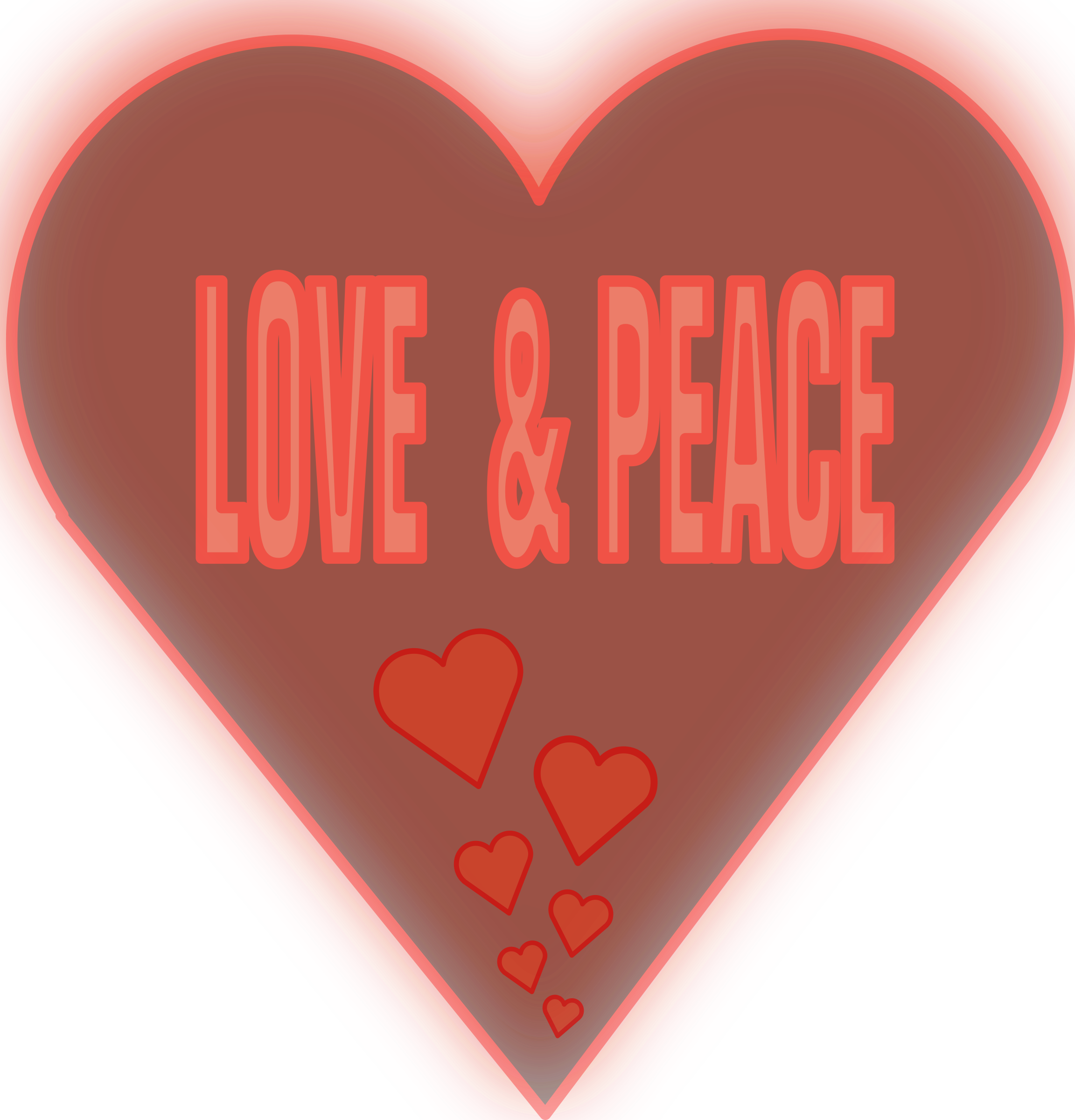 Love and Peace in a heart by mystica