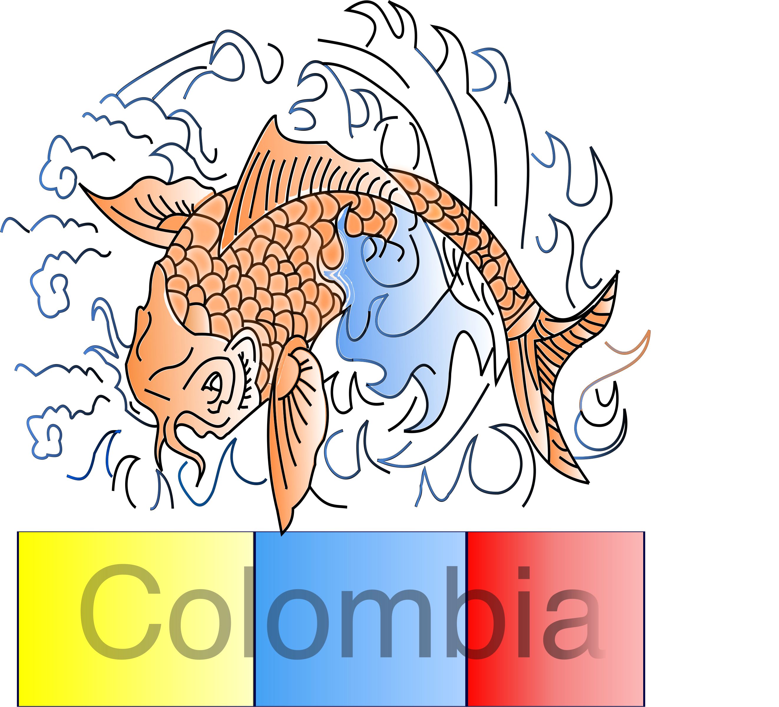 Pez Koi colombiano by Laura Arango ._.