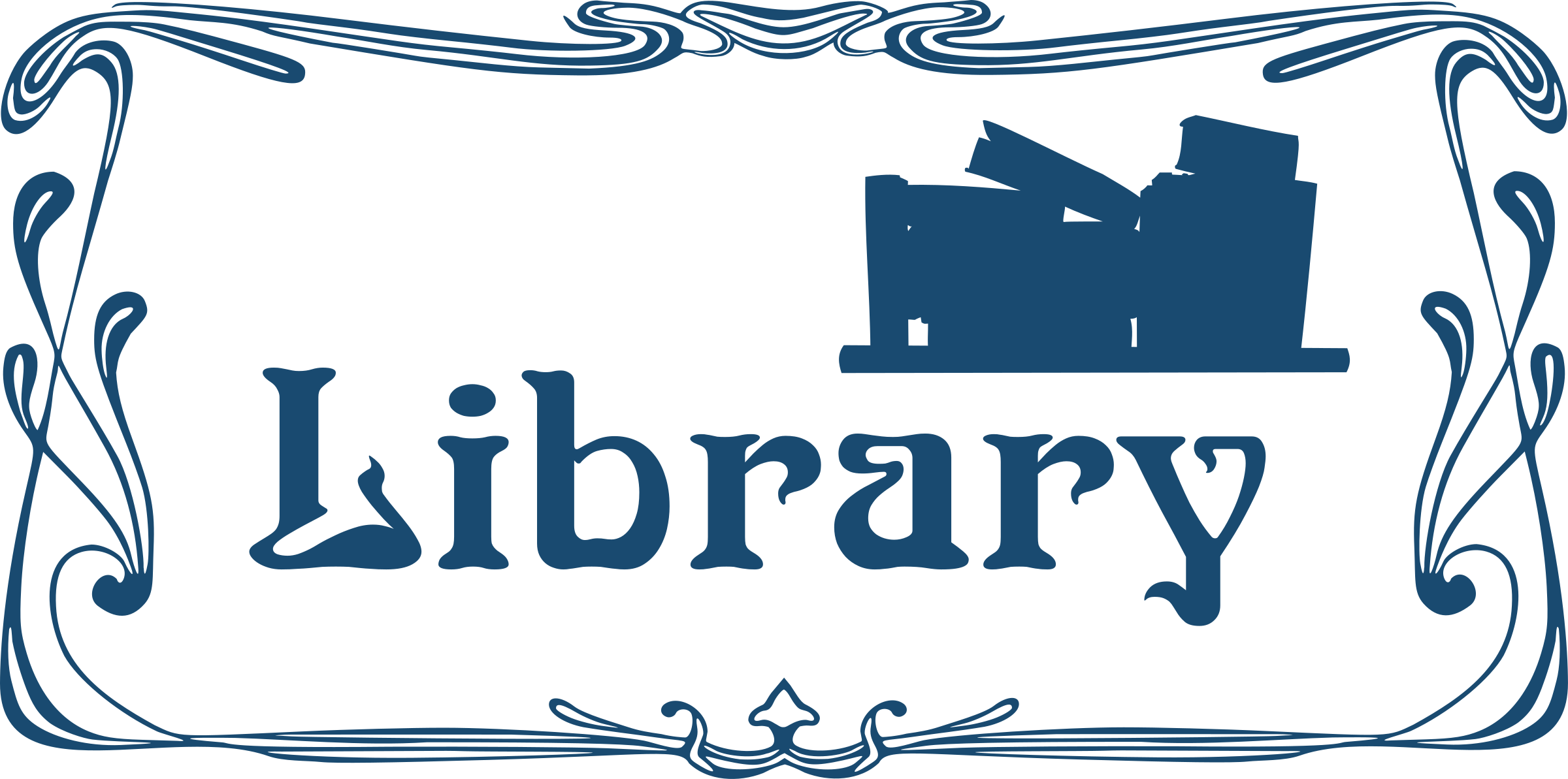 Library door sign by Moini