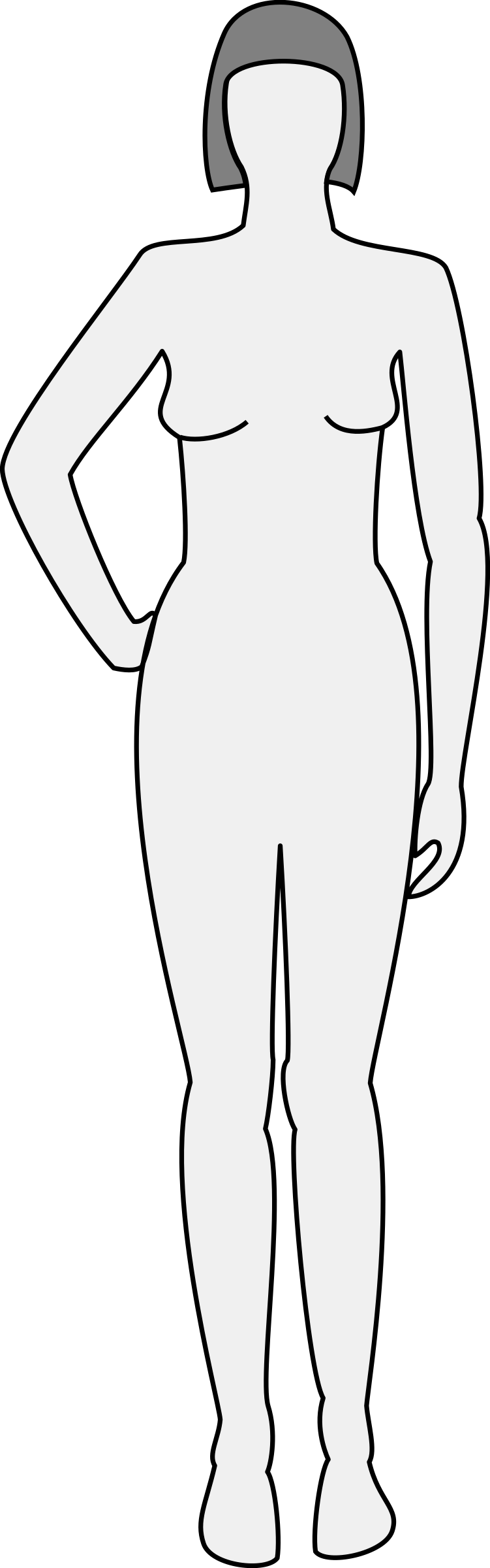 Female body silhouette - front by nicubunu