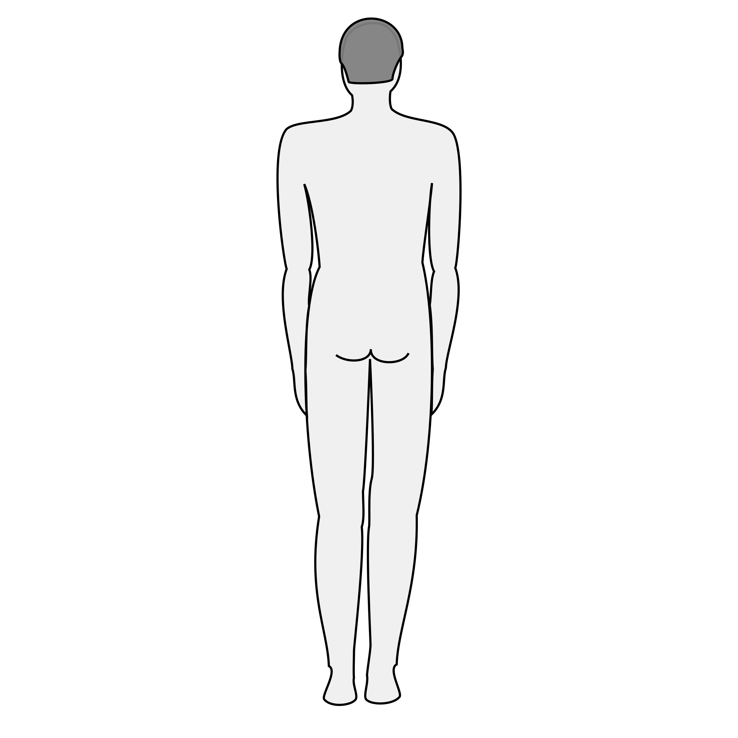 Male body silhouette - back by nicubunu