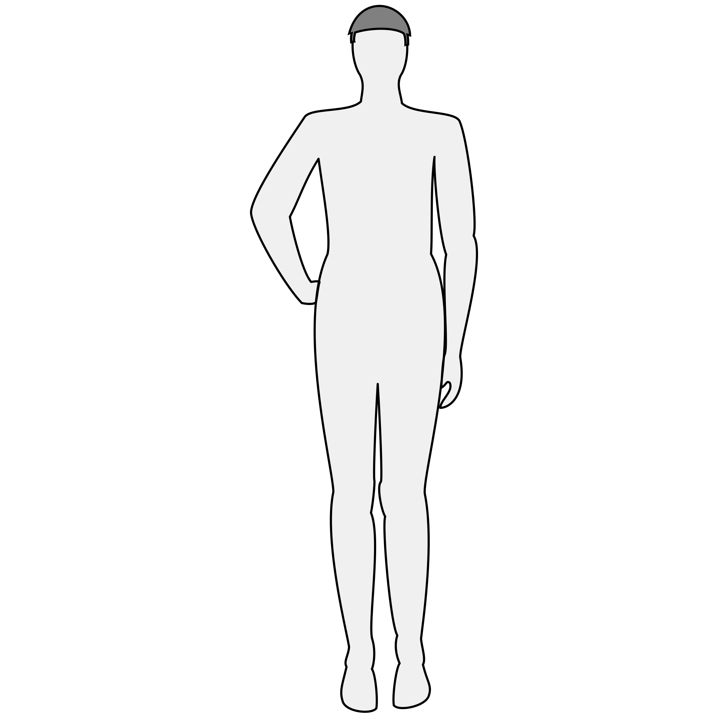 Male body silhouette - front by nicubunu