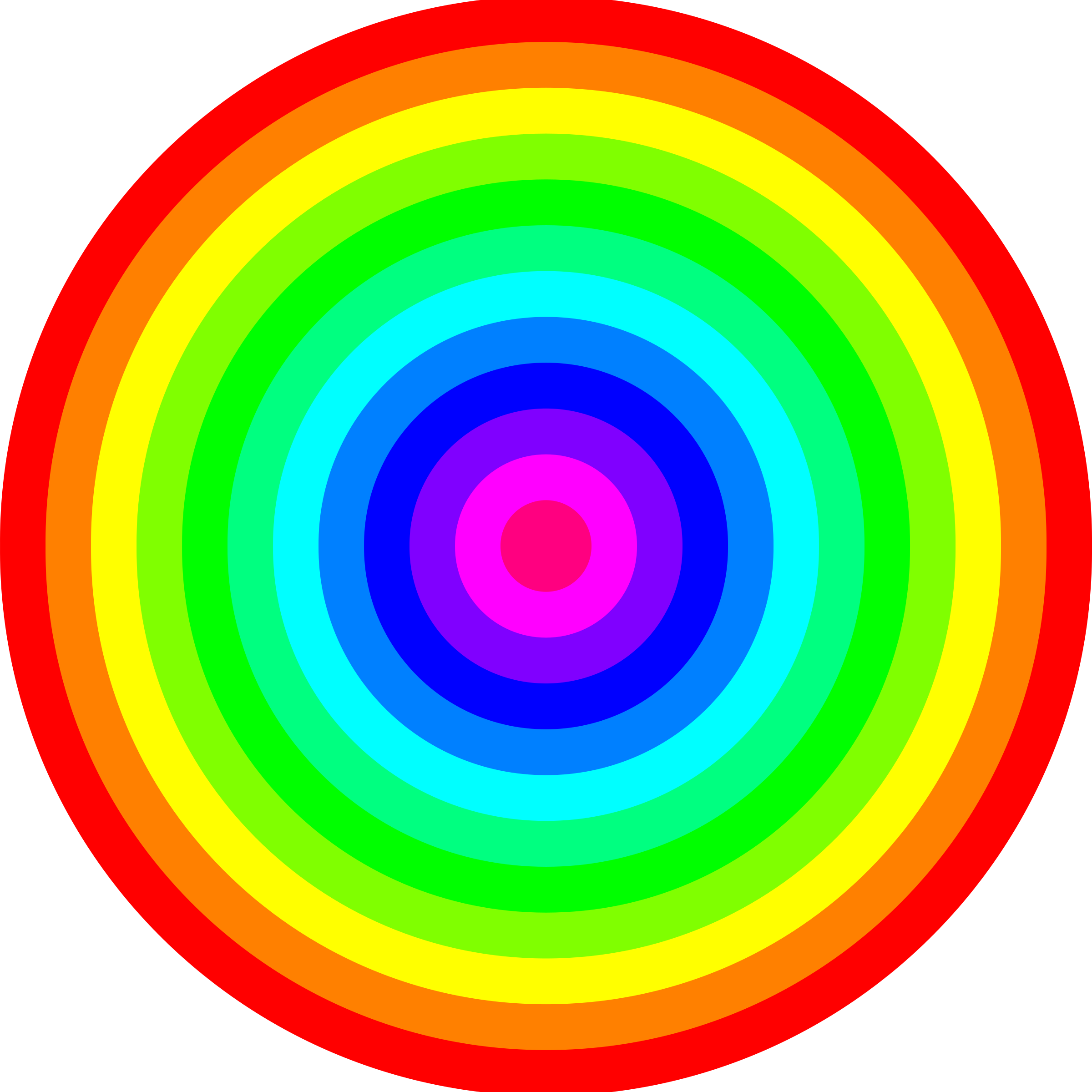 12 color rainbow circles by 10binary