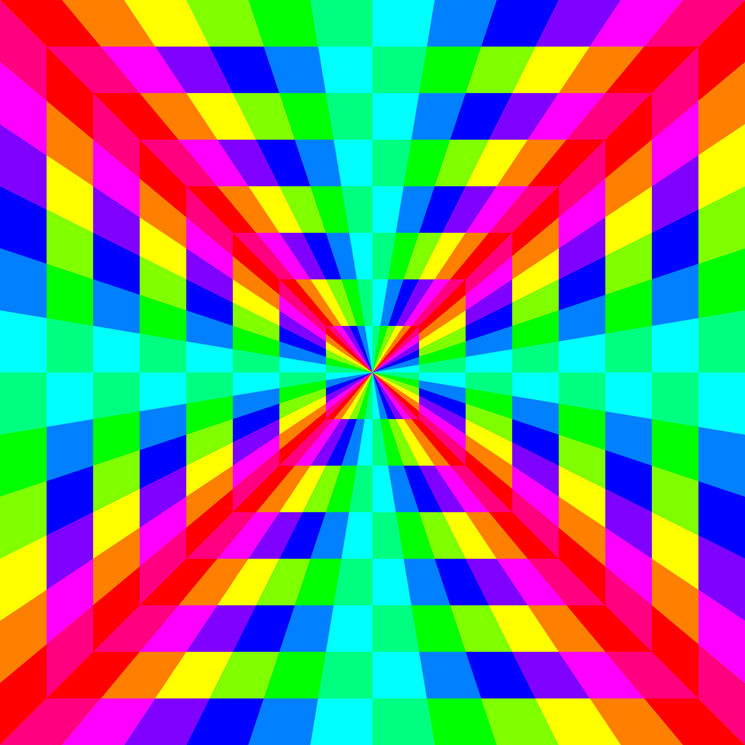 12 color rainbow square tunnel by 10binary