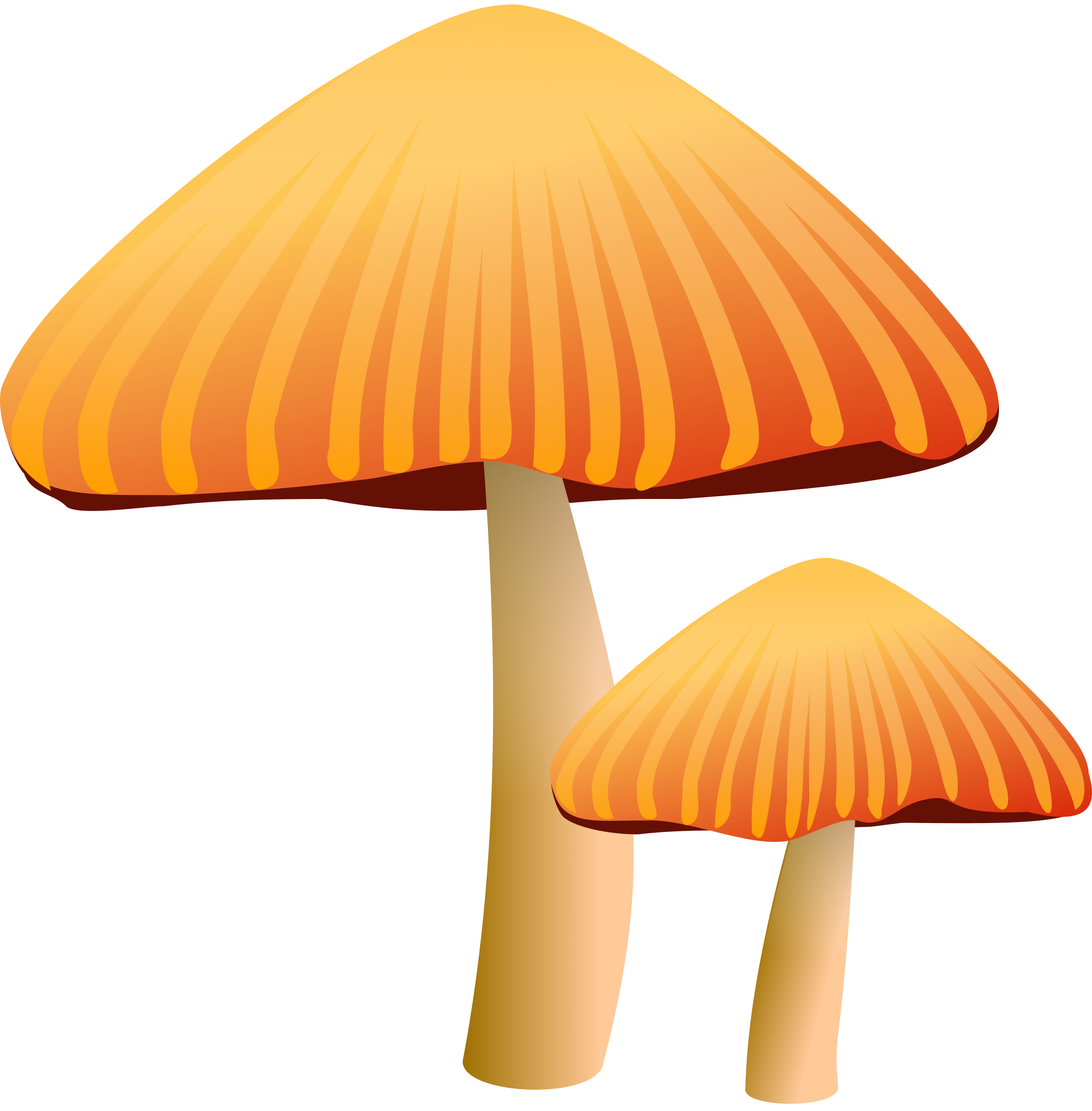 Orange Mushroom by rockraikar