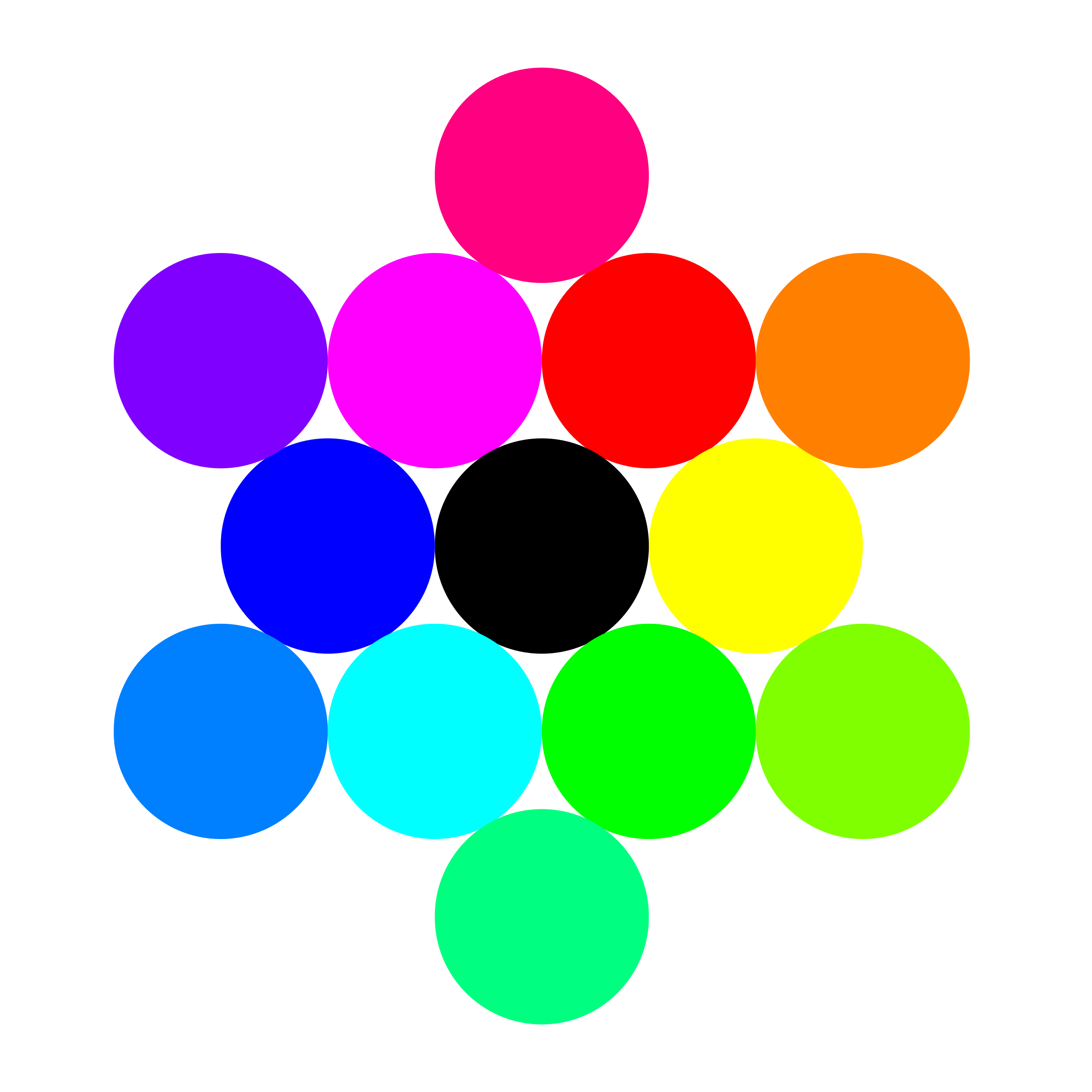 13 circles rainbow by 10binary