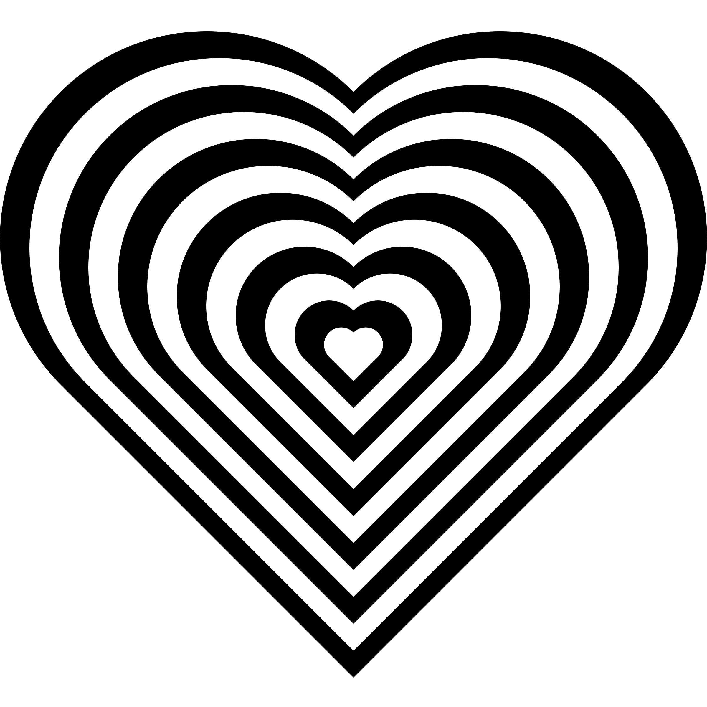 geometric zebra heart by 10binary