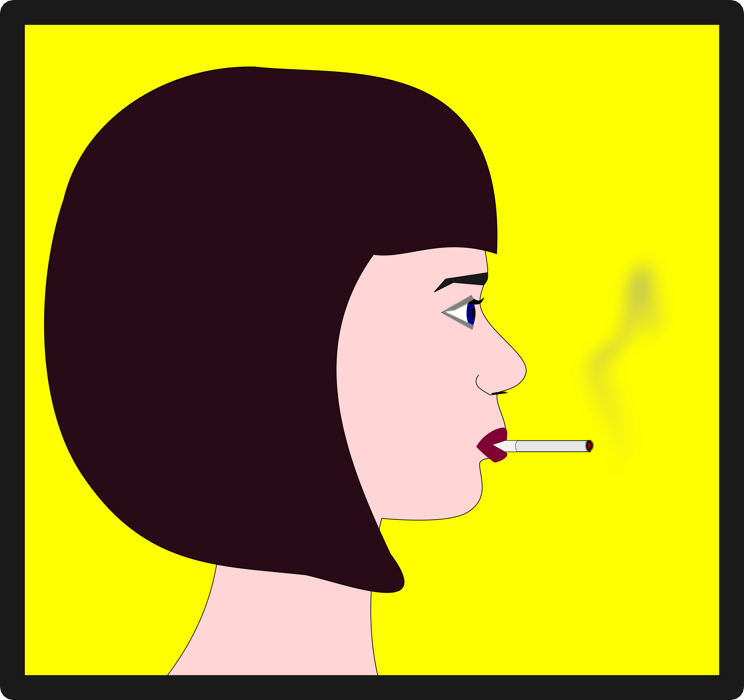Woman with Cigarette by OlKu