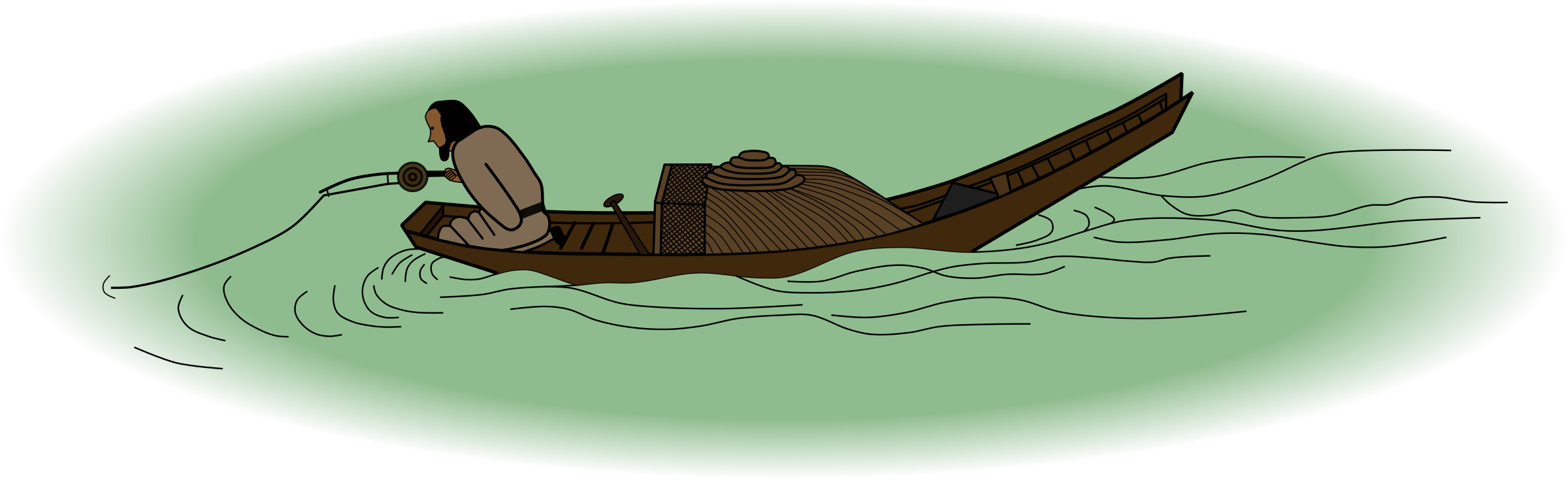 Angler on a Wintry Lake by SeriousTux