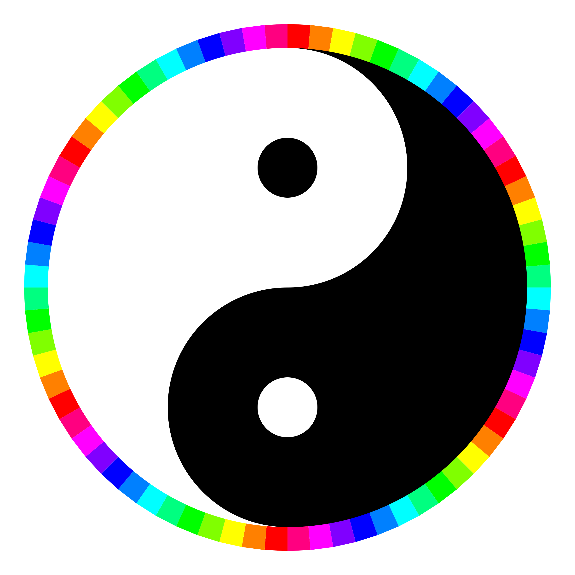 rainbow around yinyang by 10binary
