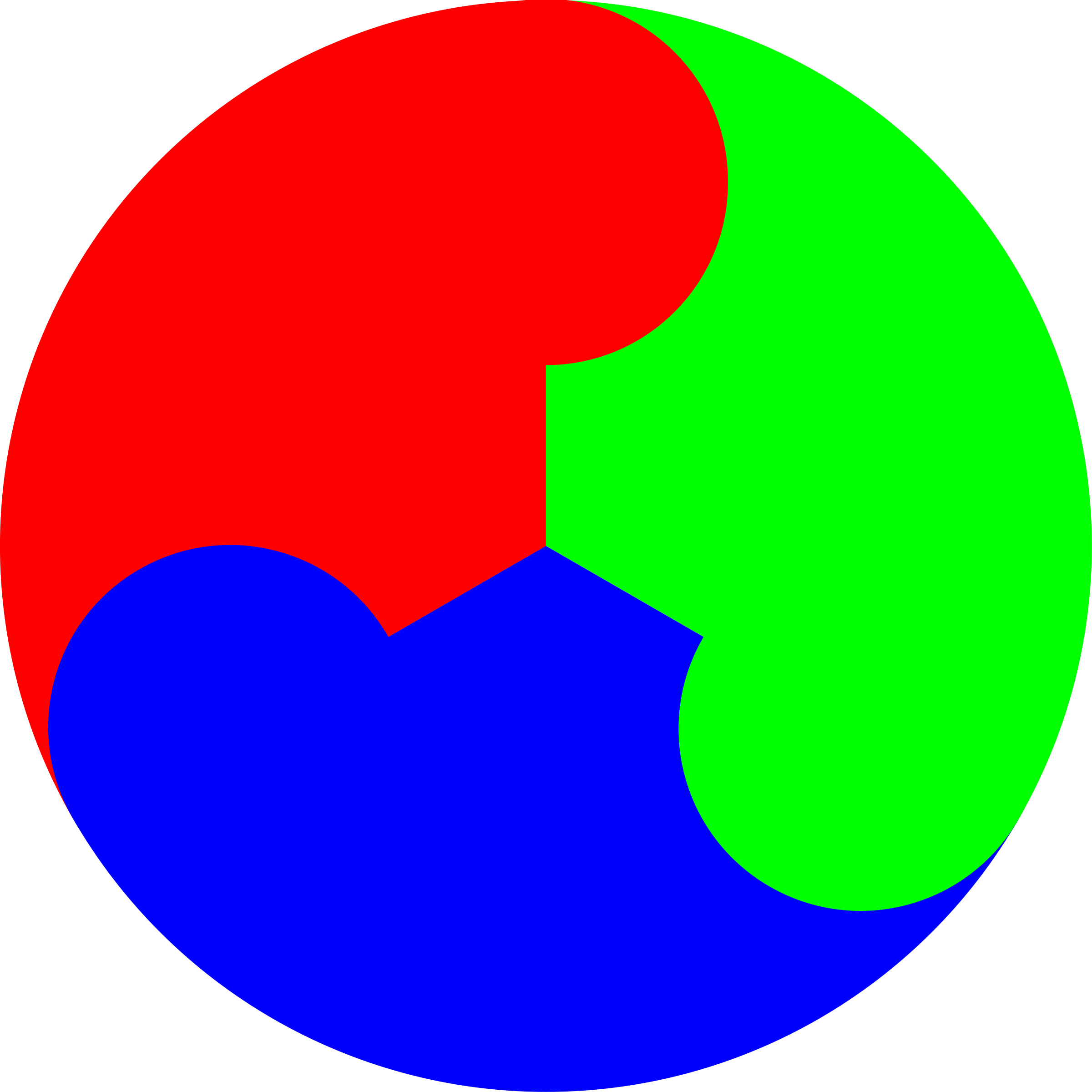 3 color yinyang by 10binary