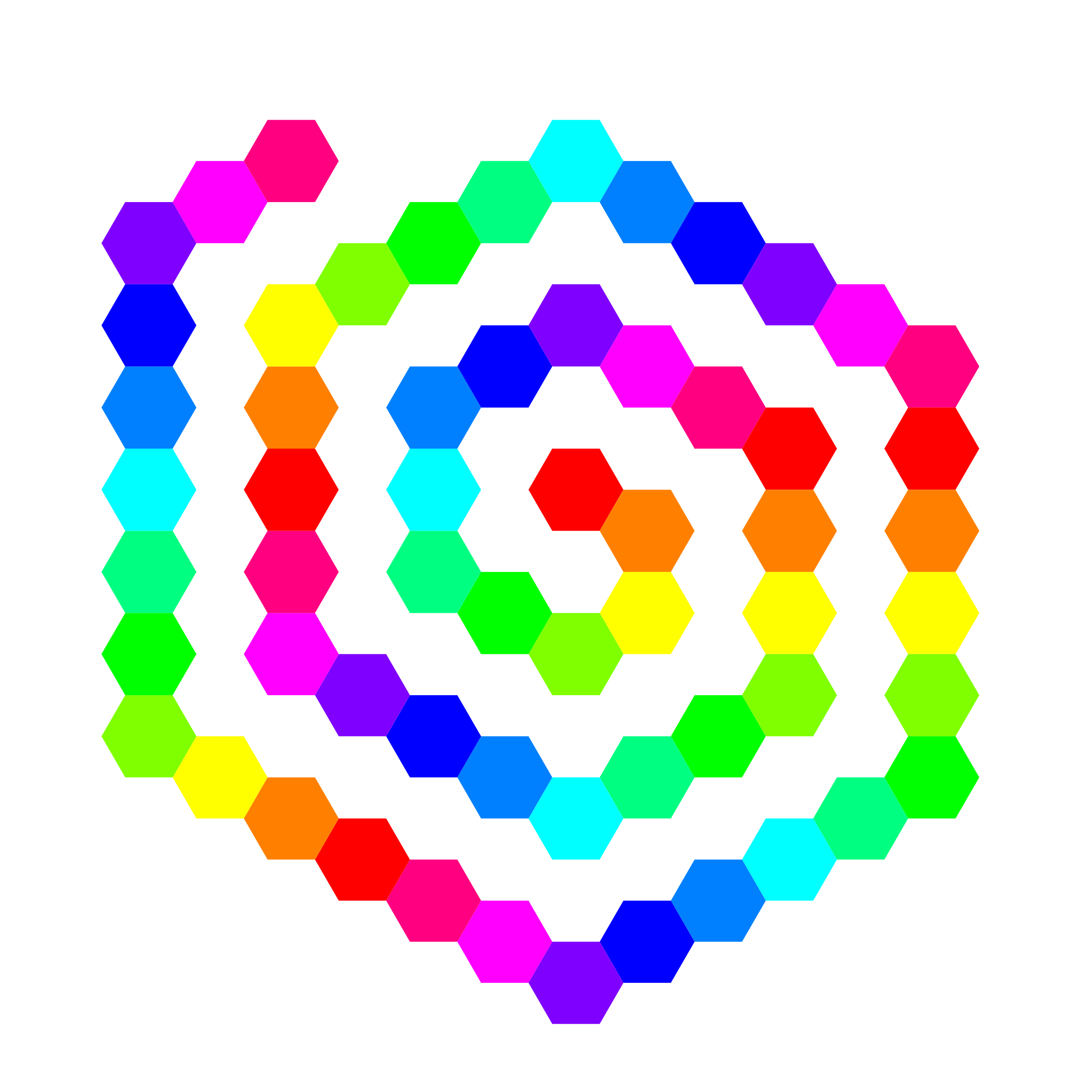 60 hexagon spiral by 10binary
