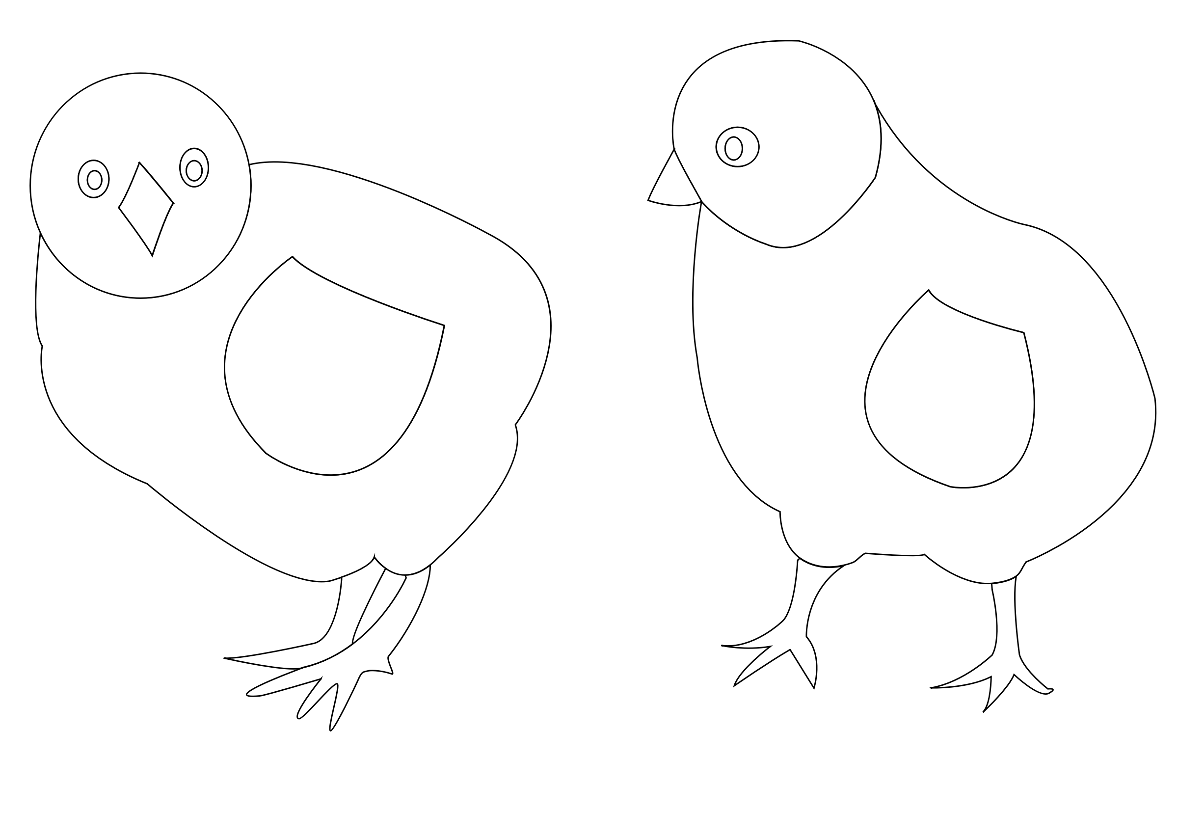 chicks-vector-coloring by lobaz.r