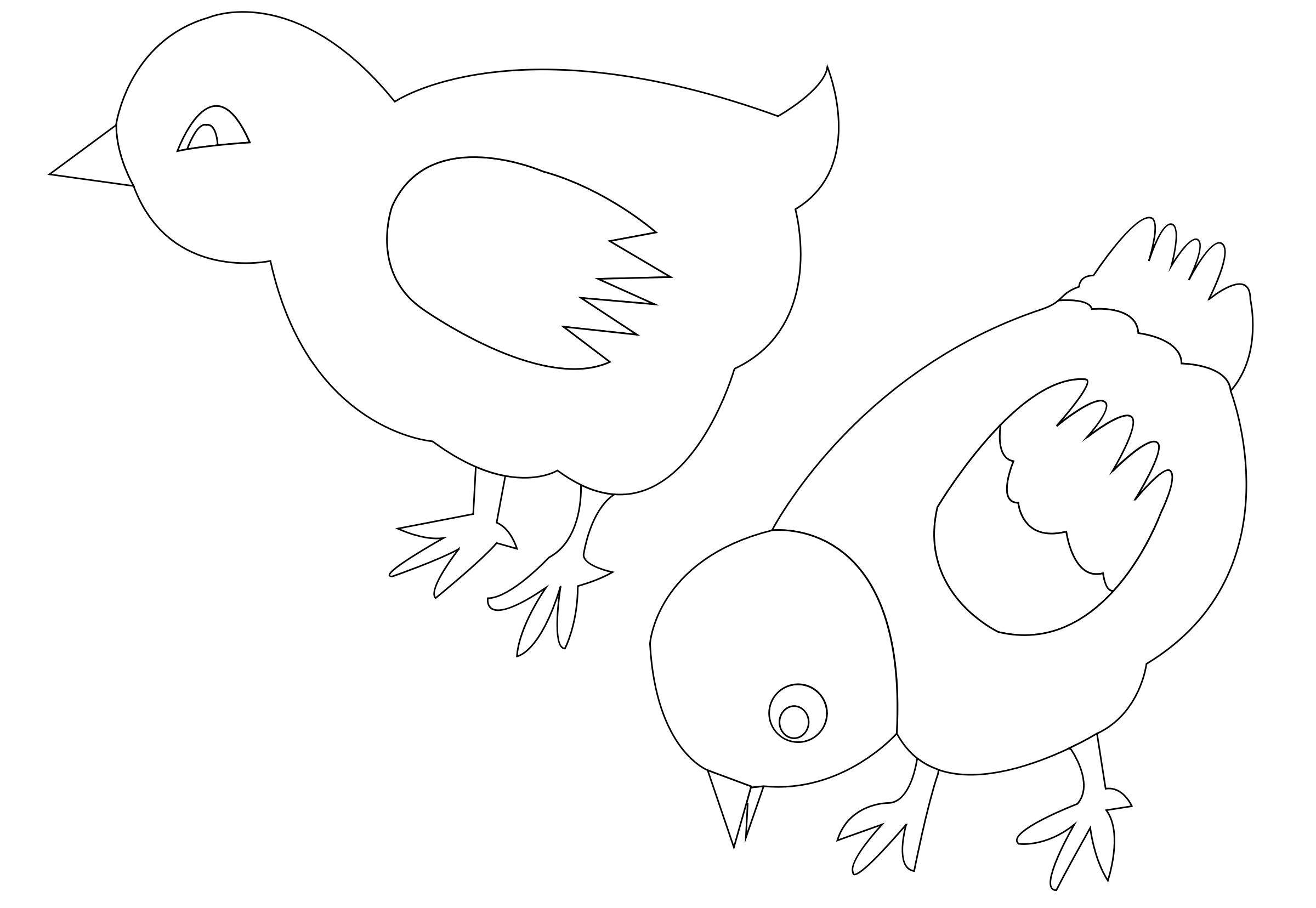 chickens-002-vector-coloring by lobaz.r