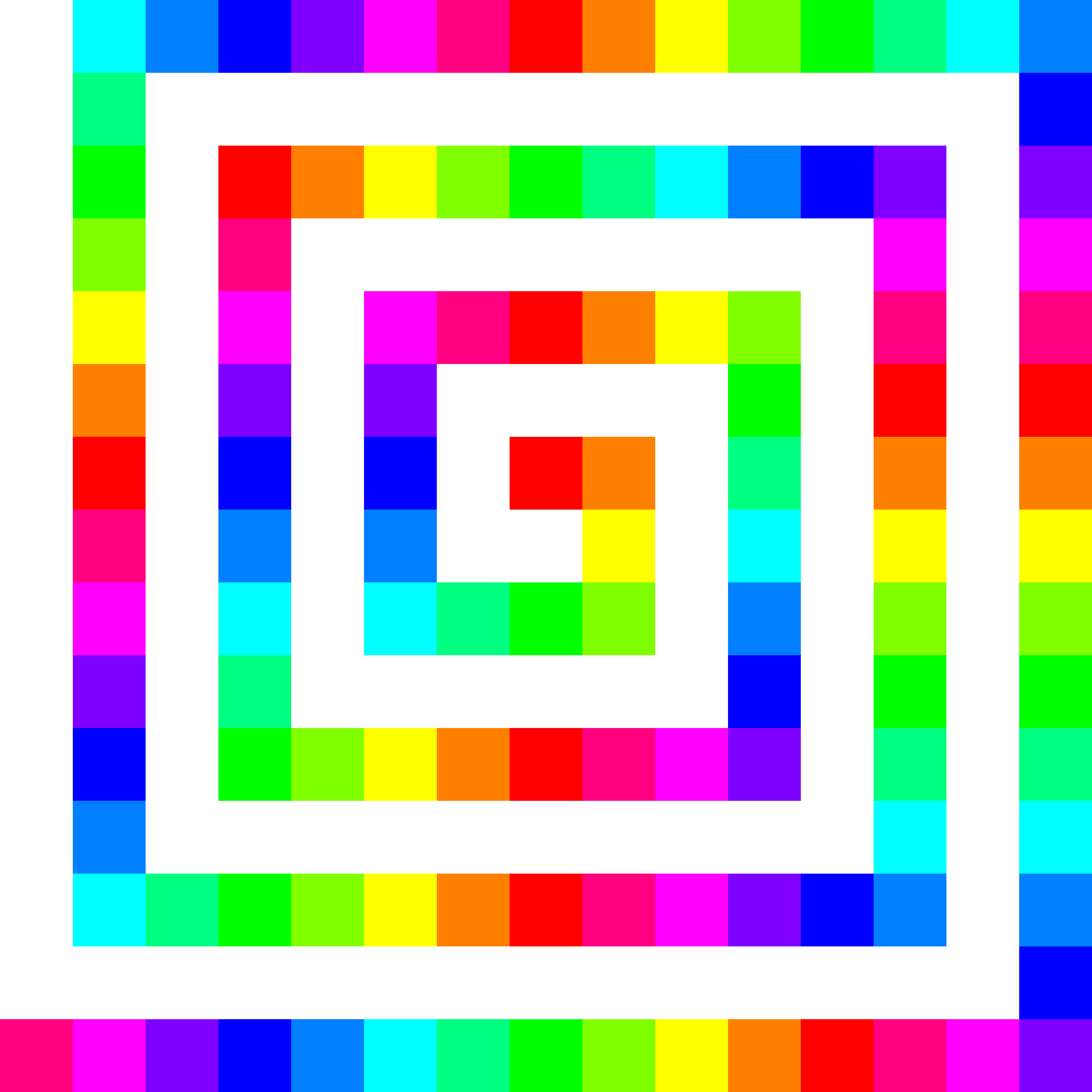 120 square spiral 12 color by 10binary