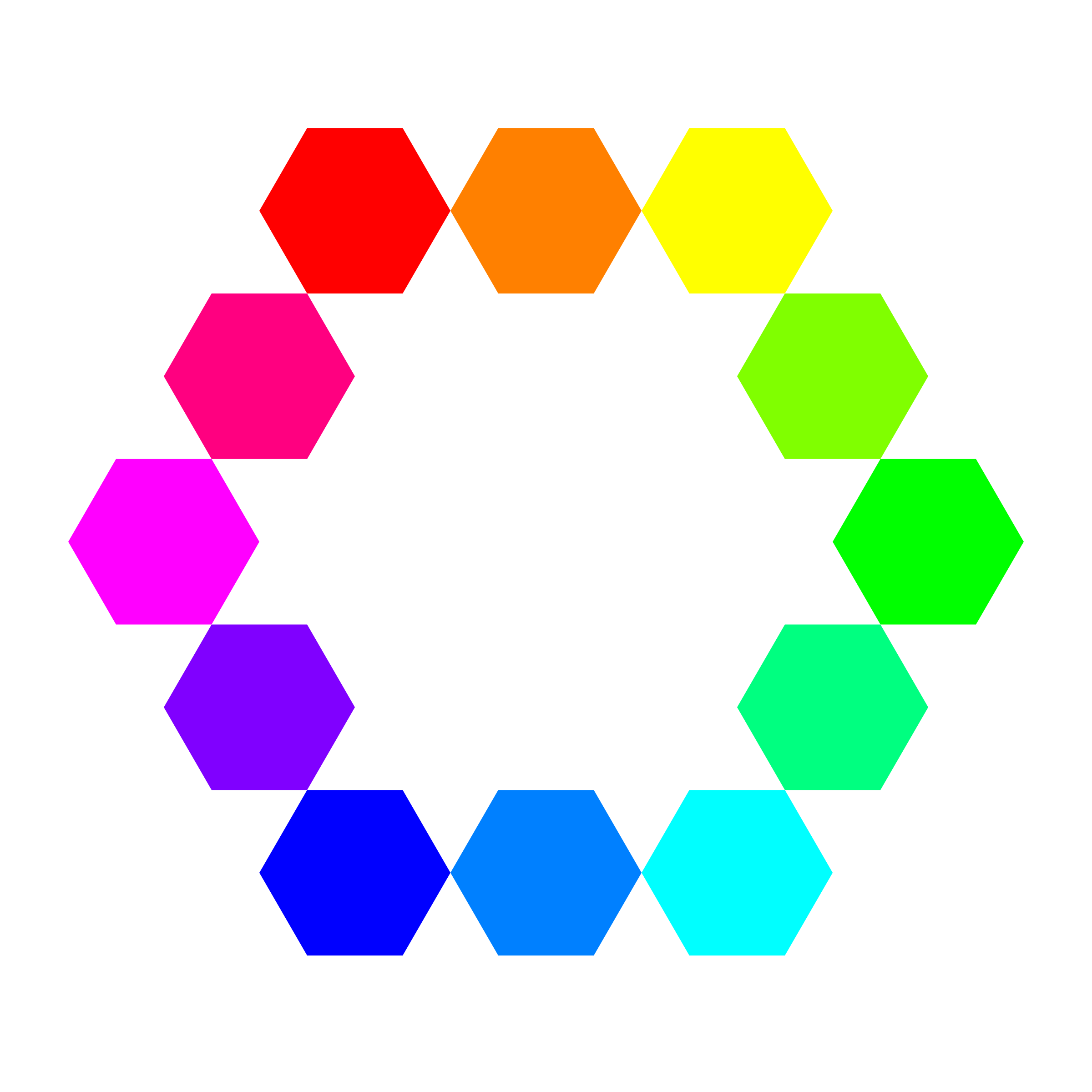 1 point 12 connected hexagons by 10binary
