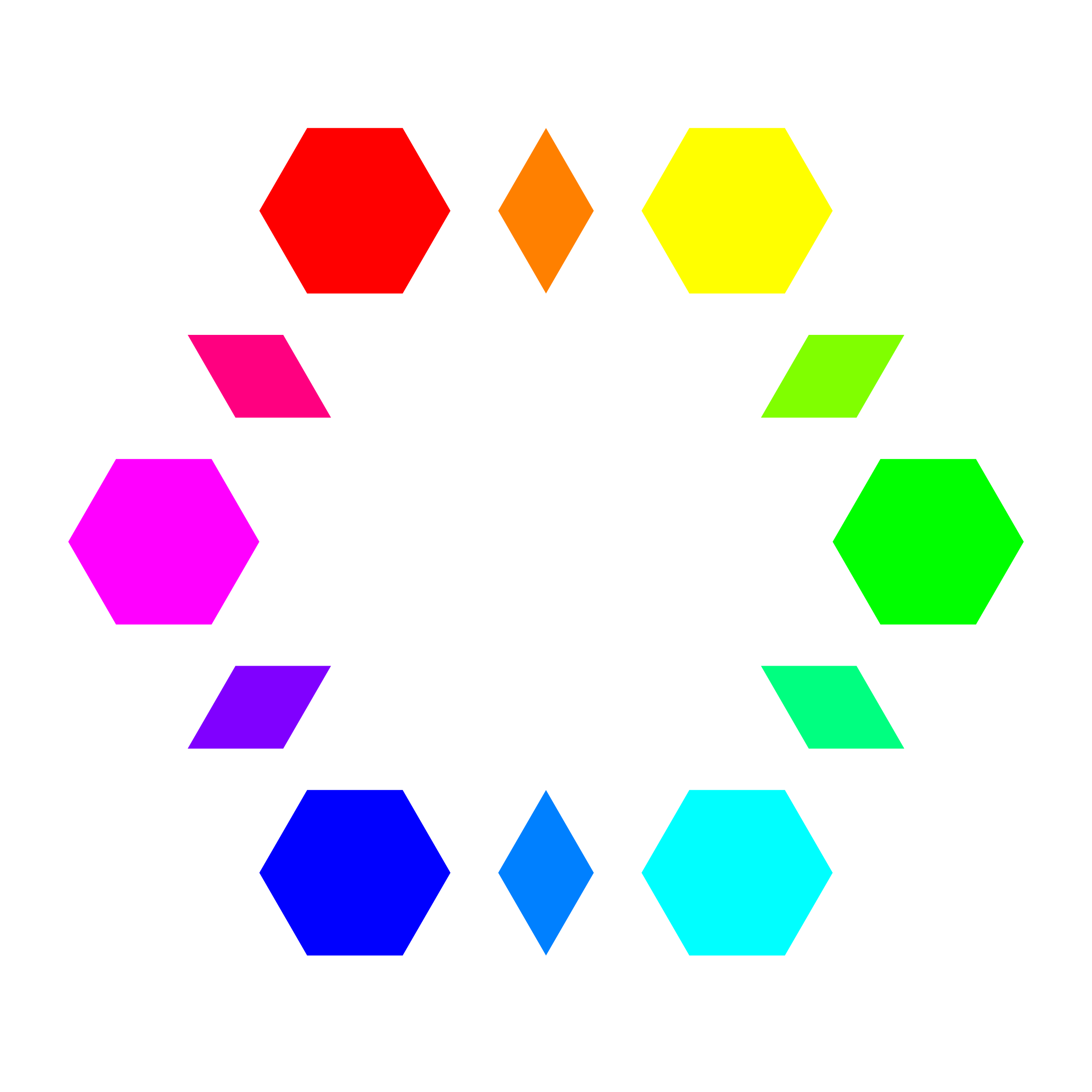 6 hexagons 6 diamonds by 10binary
