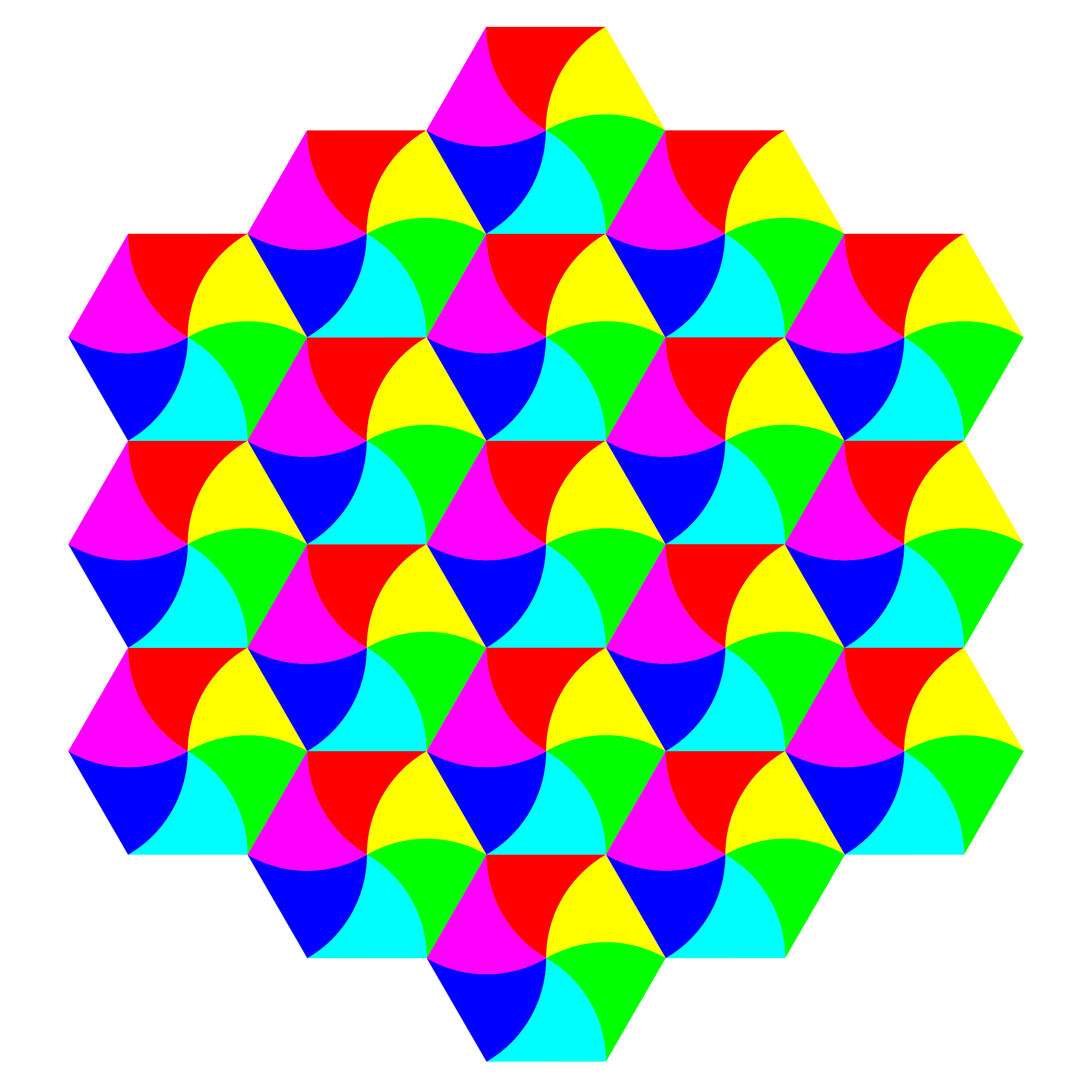 swirly hexagon tessellation by 10binary