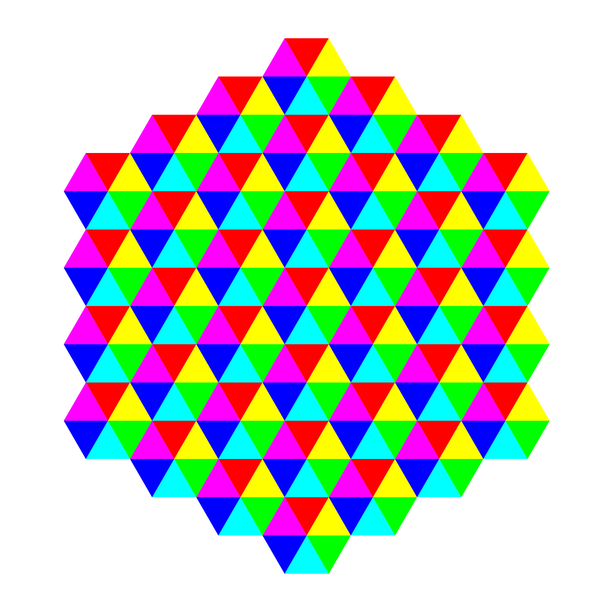 hexagonal triangle tessellation by 10binary