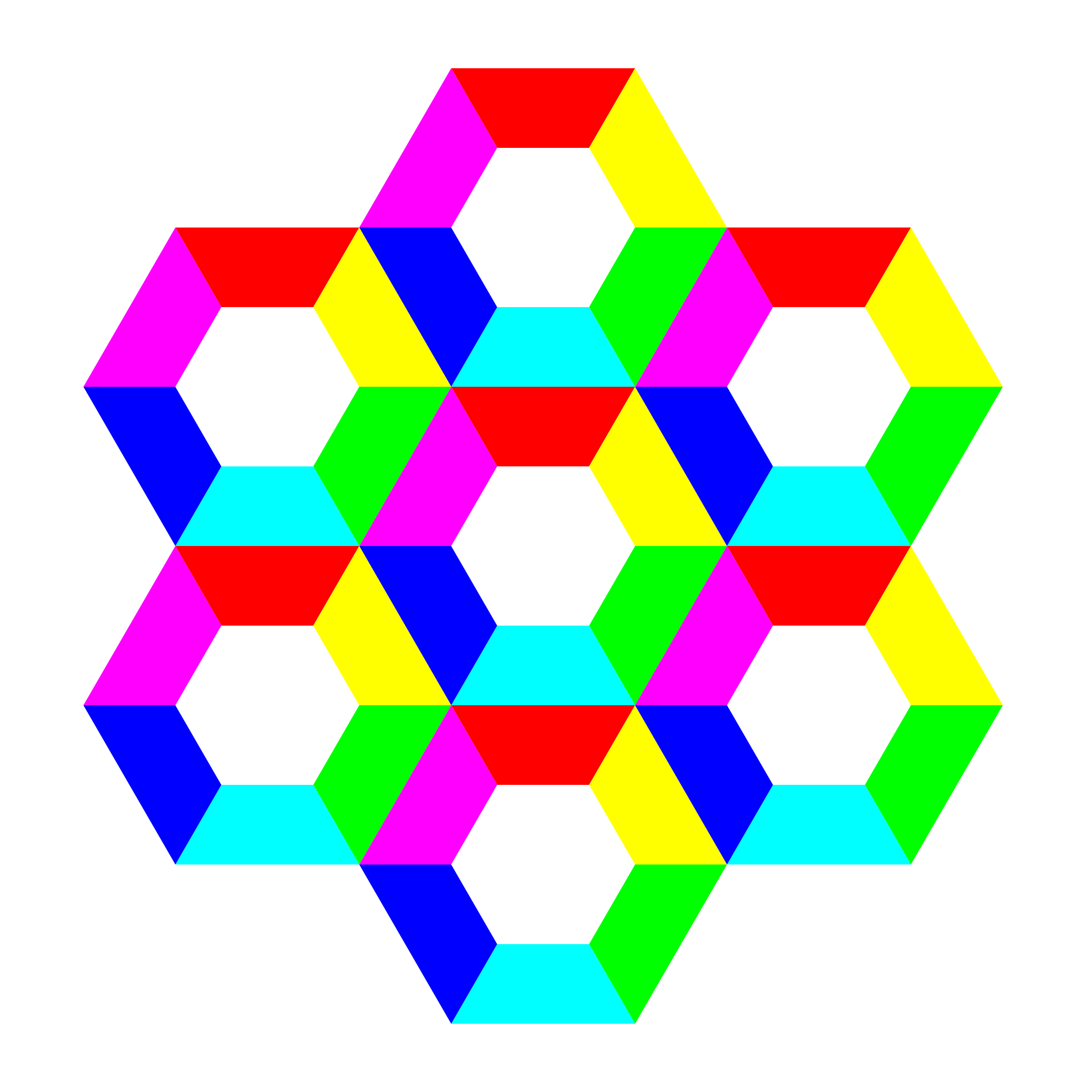 half hexagon fun by 10binary