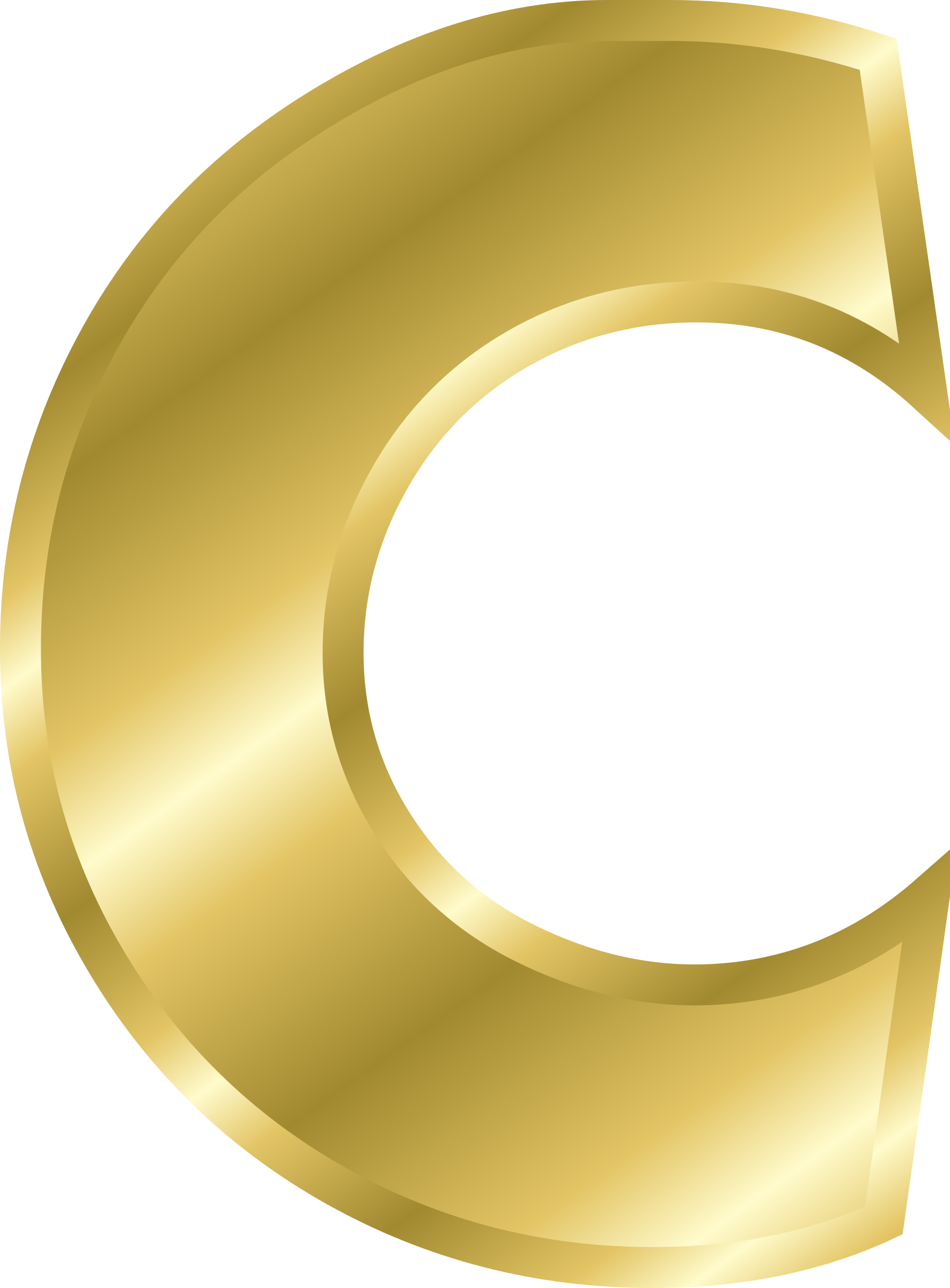 B Letter In Gold Clipart - Effect Lette...