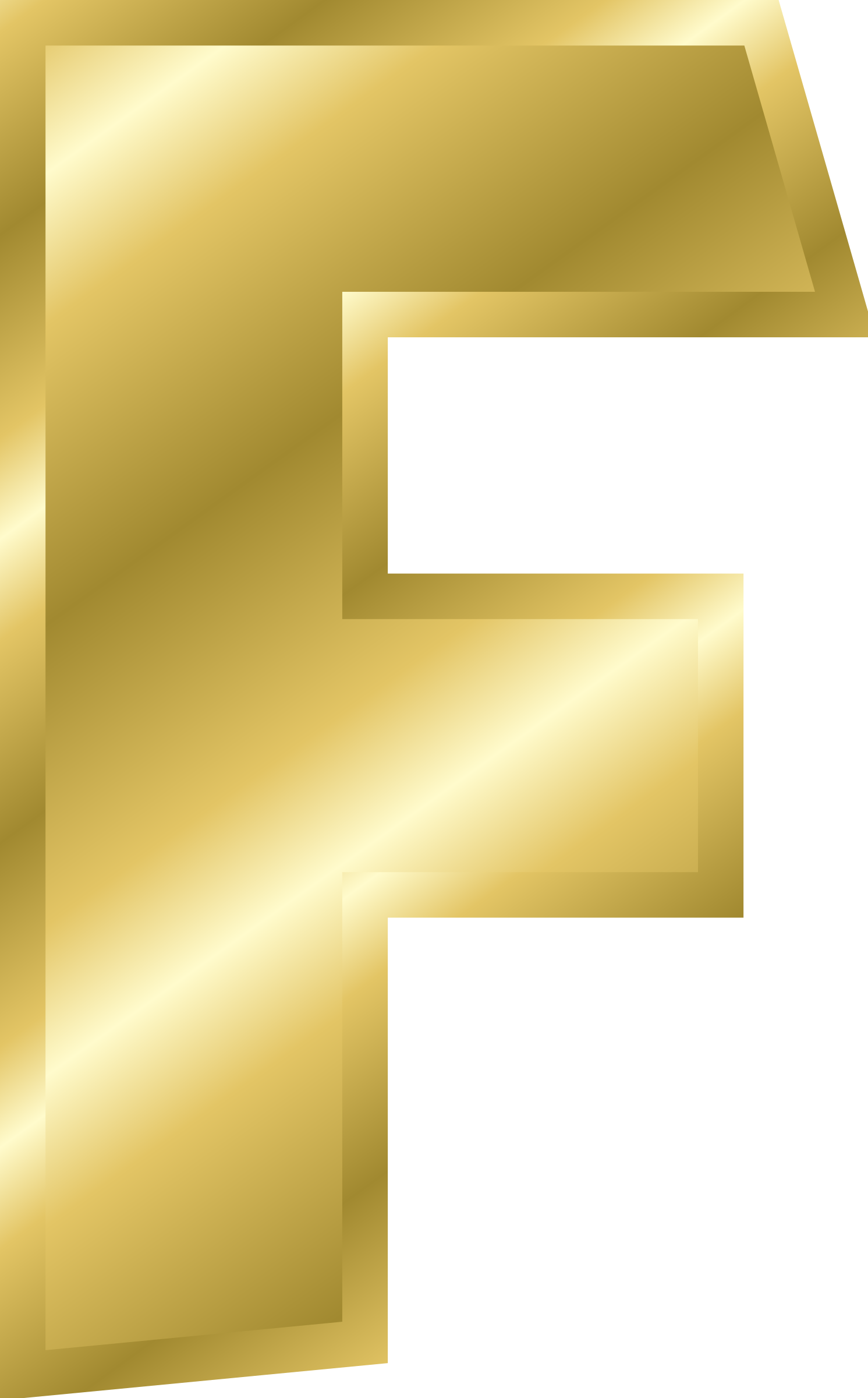 Effect Letters alphabet gold by Chrisdesign