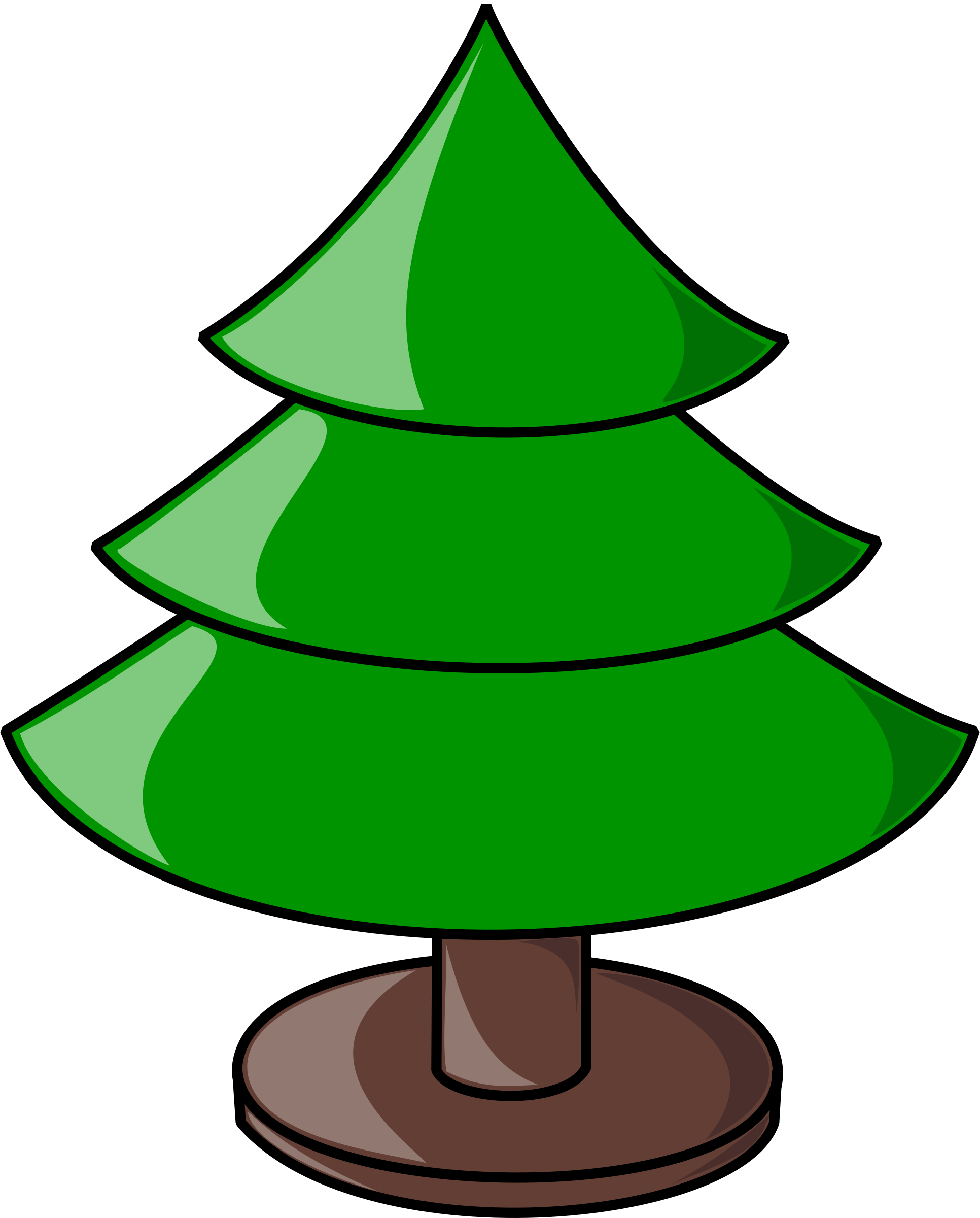 Christmas Tree (plain) by nicubunu