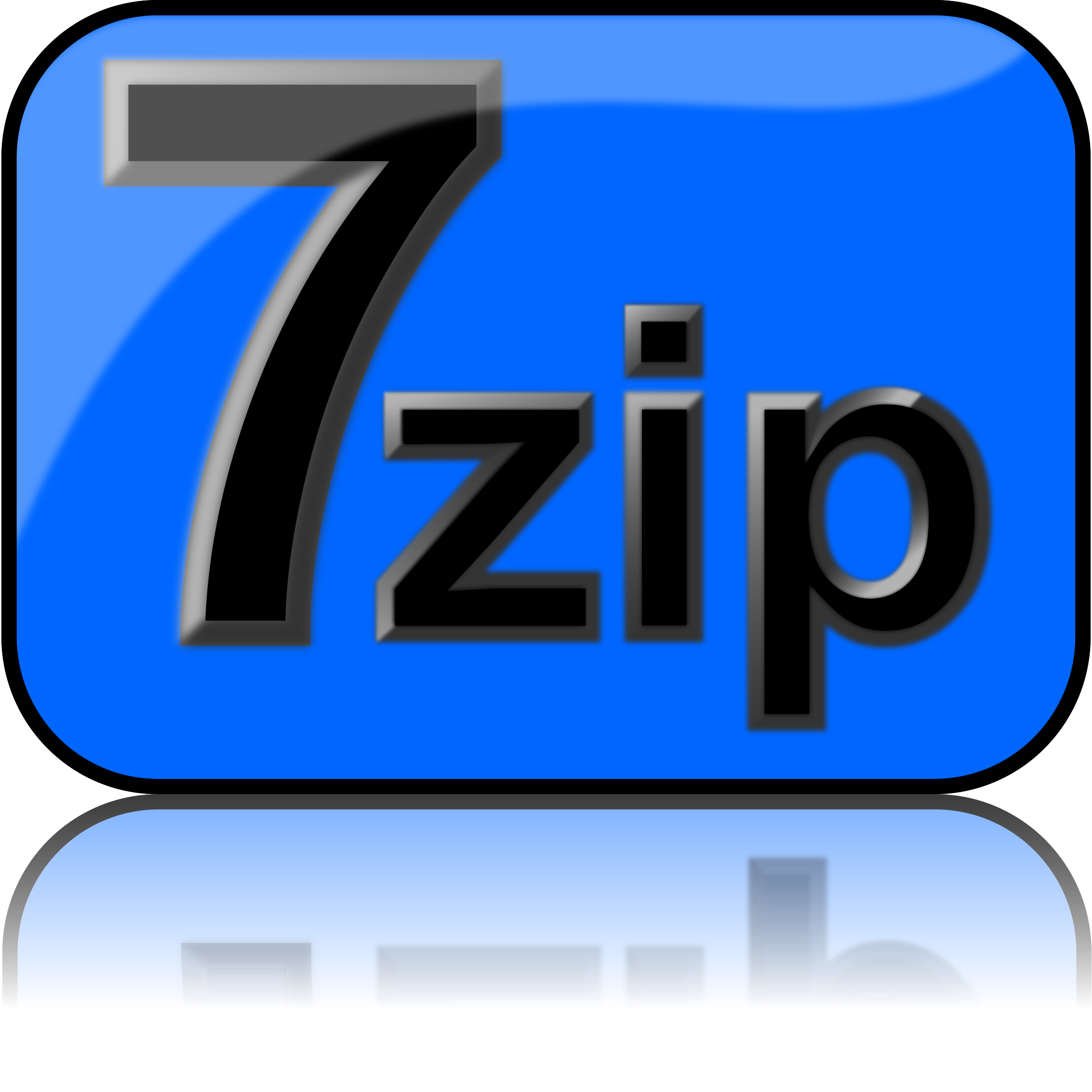 7zip Glossy Extrude Blue by kg