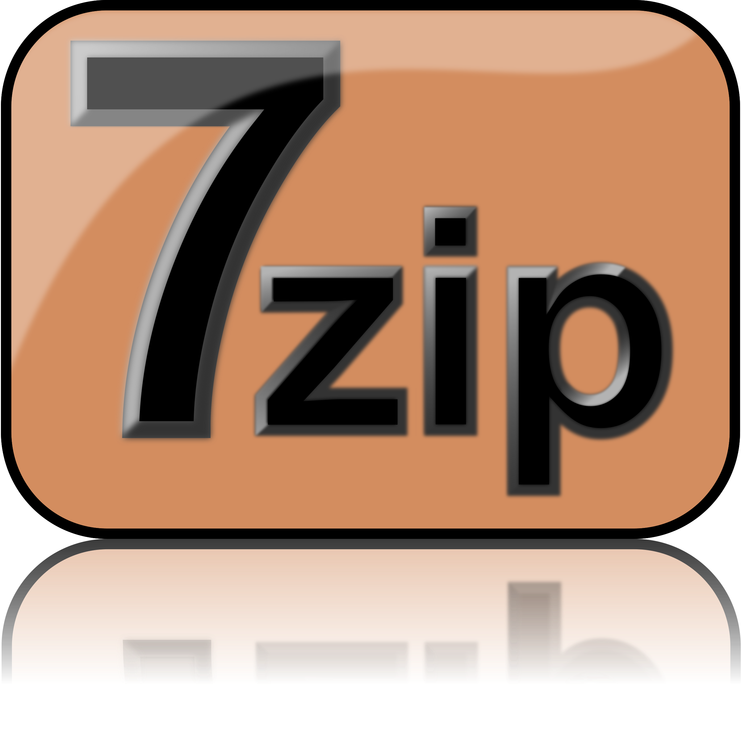 7zip Glossy Extrude Brown by kg
